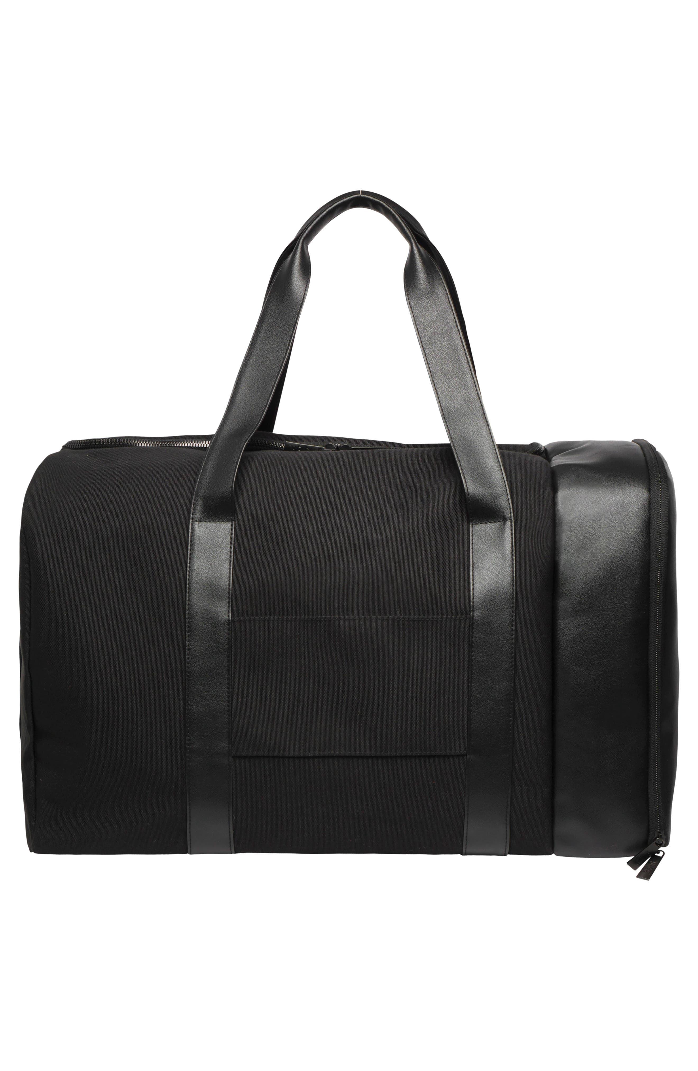 BÉIS, Travel Multi Function Duffle Bag, Alternate thumbnail 2, color, BLACK