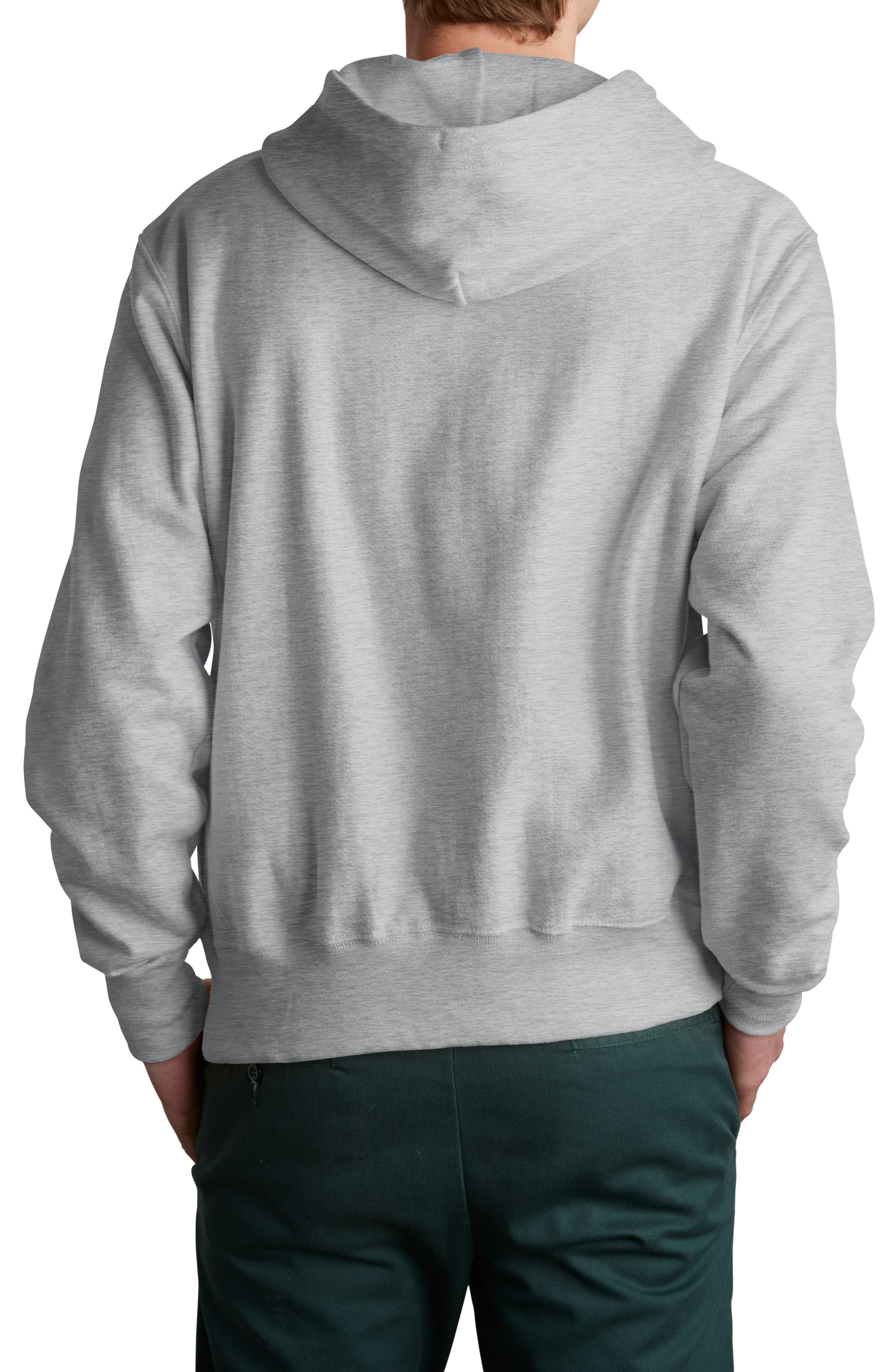 CHAMPION, Sublimated Graphic Hoodie, Alternate thumbnail 2, color, OXFORD GRAY