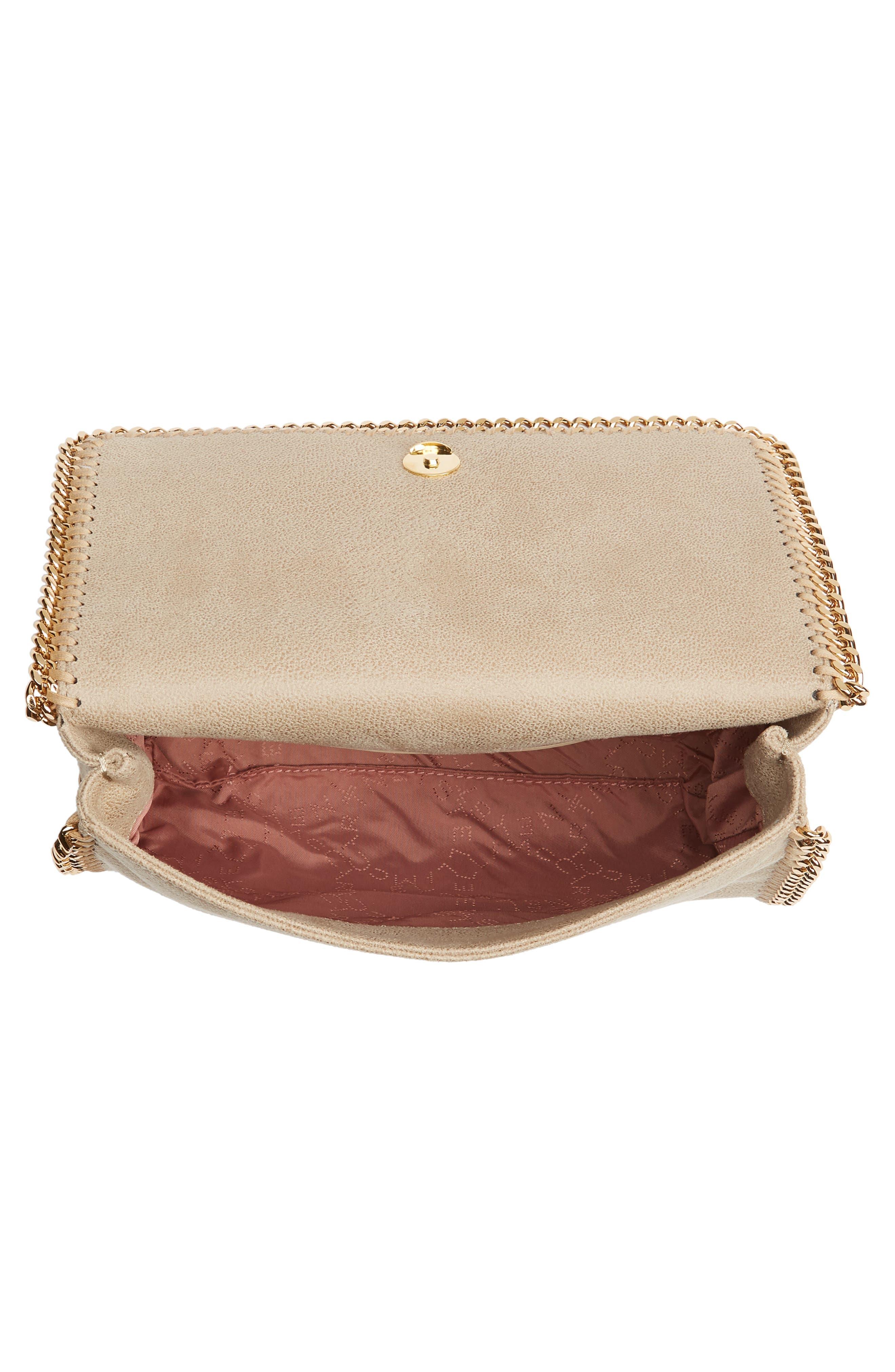 STELLA MCCARTNEY, Falabella Shaggy Deer Faux Leather Shoulder Bag, Alternate thumbnail 5, color, CLOTTED CREAM