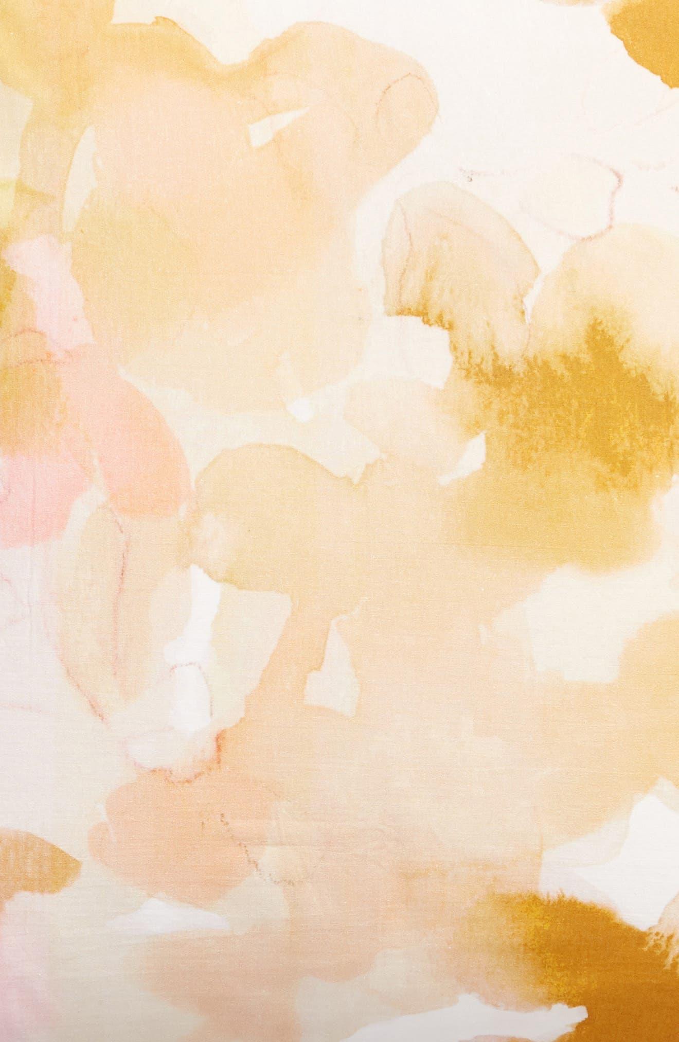 TREASURE & BOND, Veiled Blooms Print Euro Sham, Alternate thumbnail 3, color, GREY OWL MULTI