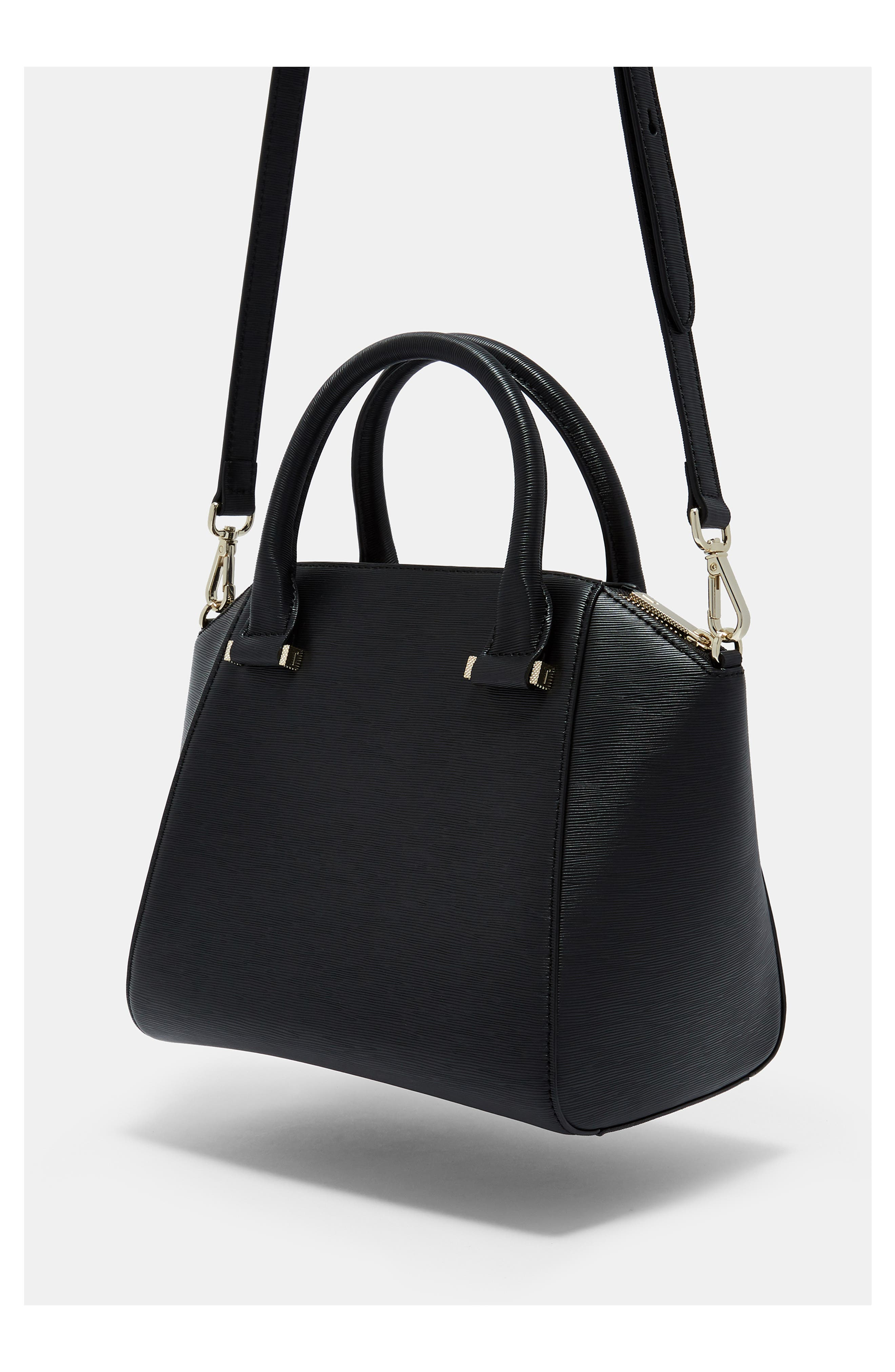 TED BAKER LONDON, Bow Tote, Alternate thumbnail 9, color, 001
