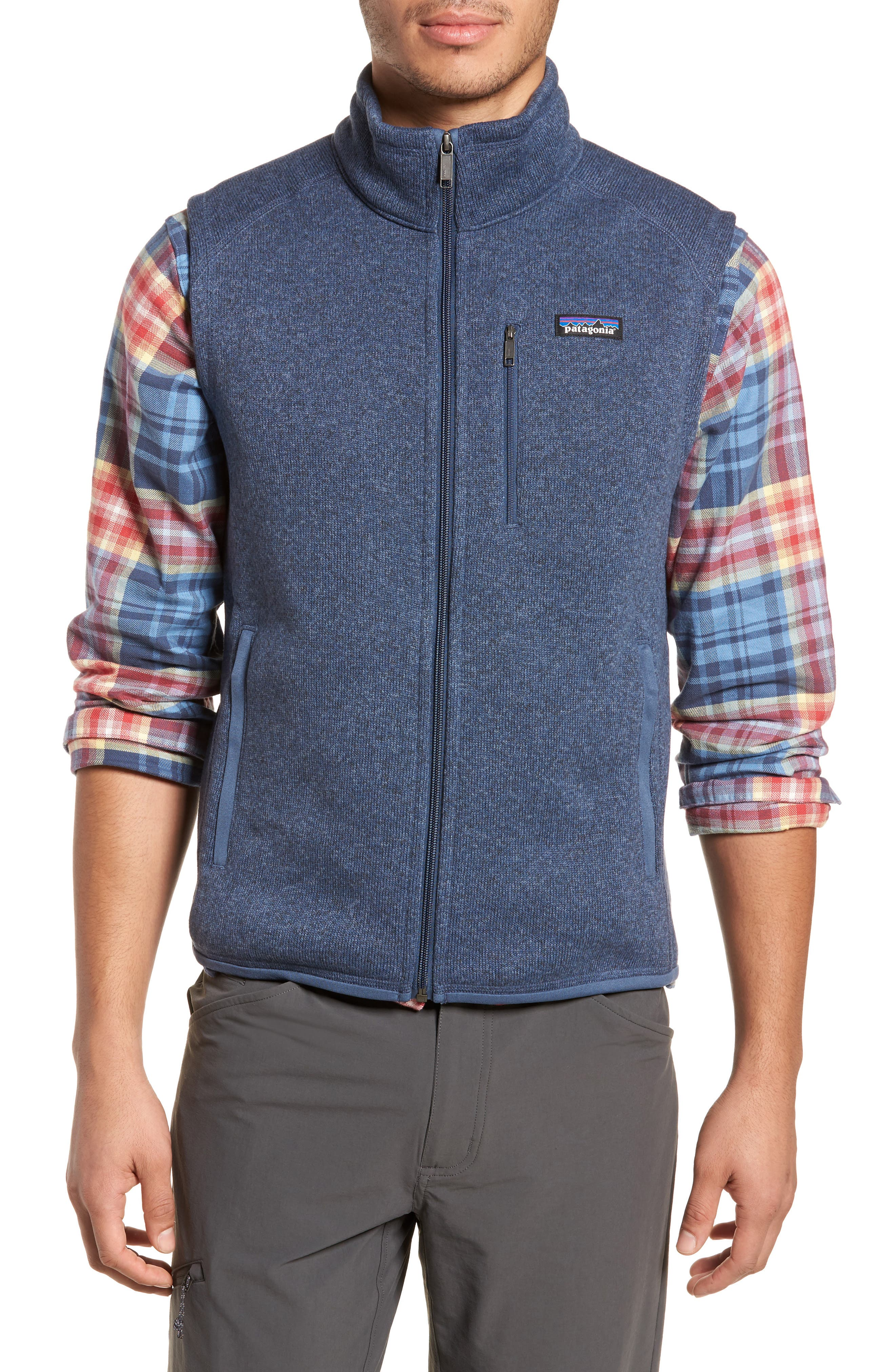 PATAGONIA, 'Better Sweater' Zip Front Vest, Alternate thumbnail 4, color, DOLOMITE BLUE