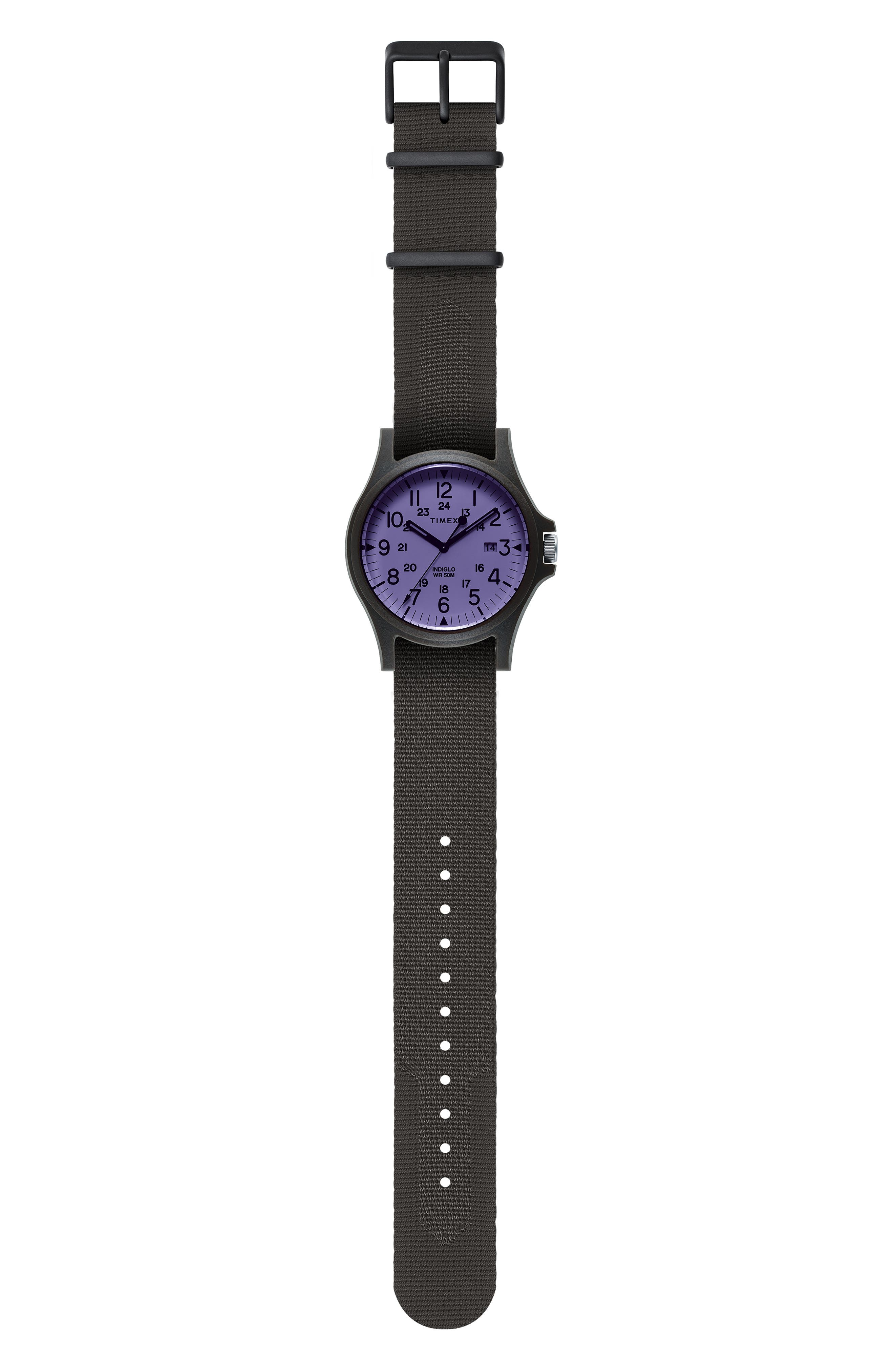 TIMEX<SUP>®</SUP> ARCHIVE, Acadia NATO Strap Watch, 40mm, Alternate thumbnail 2, color, 001