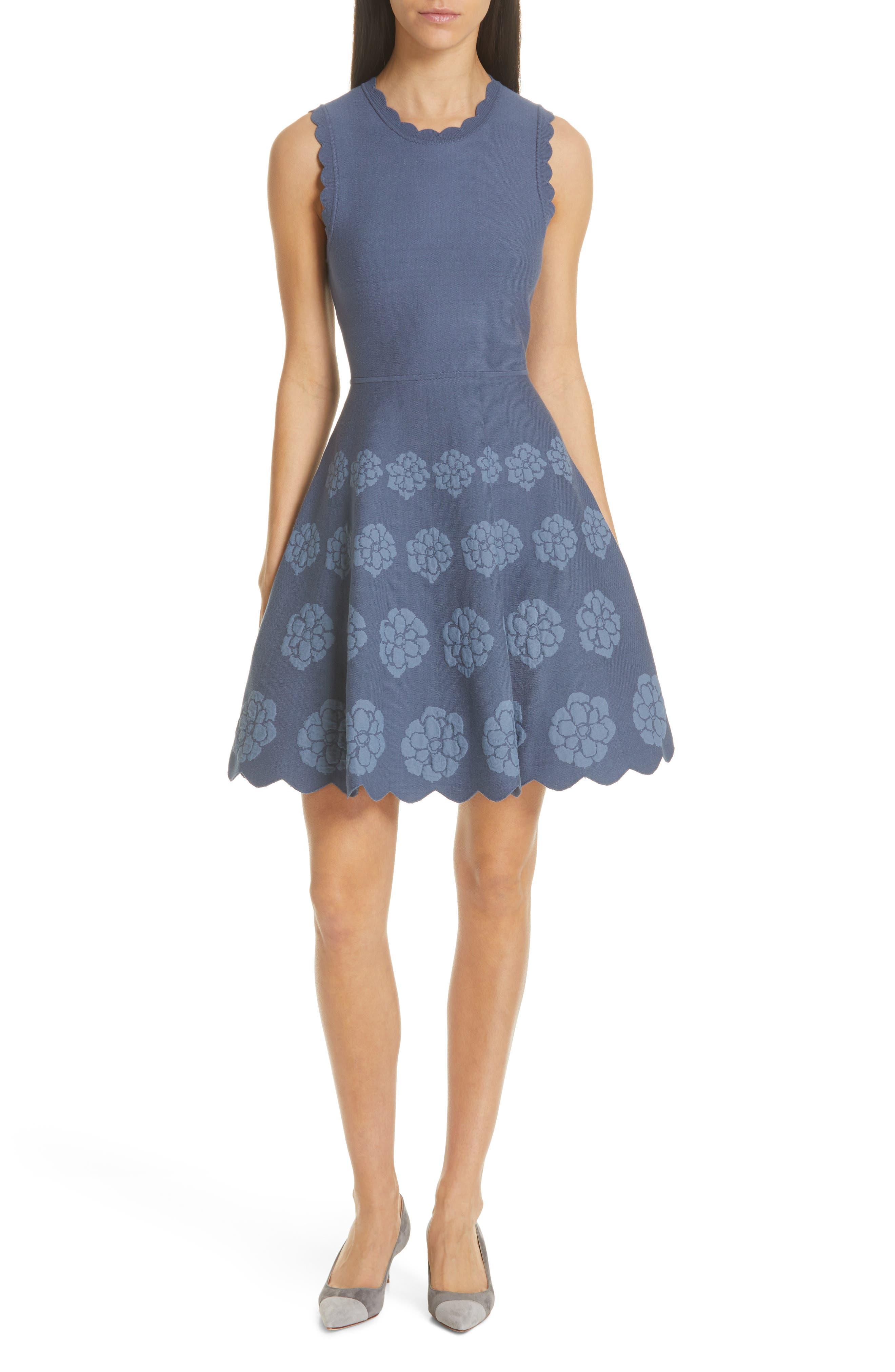 Kate Spade New York Flora Sweater Dress, Blue