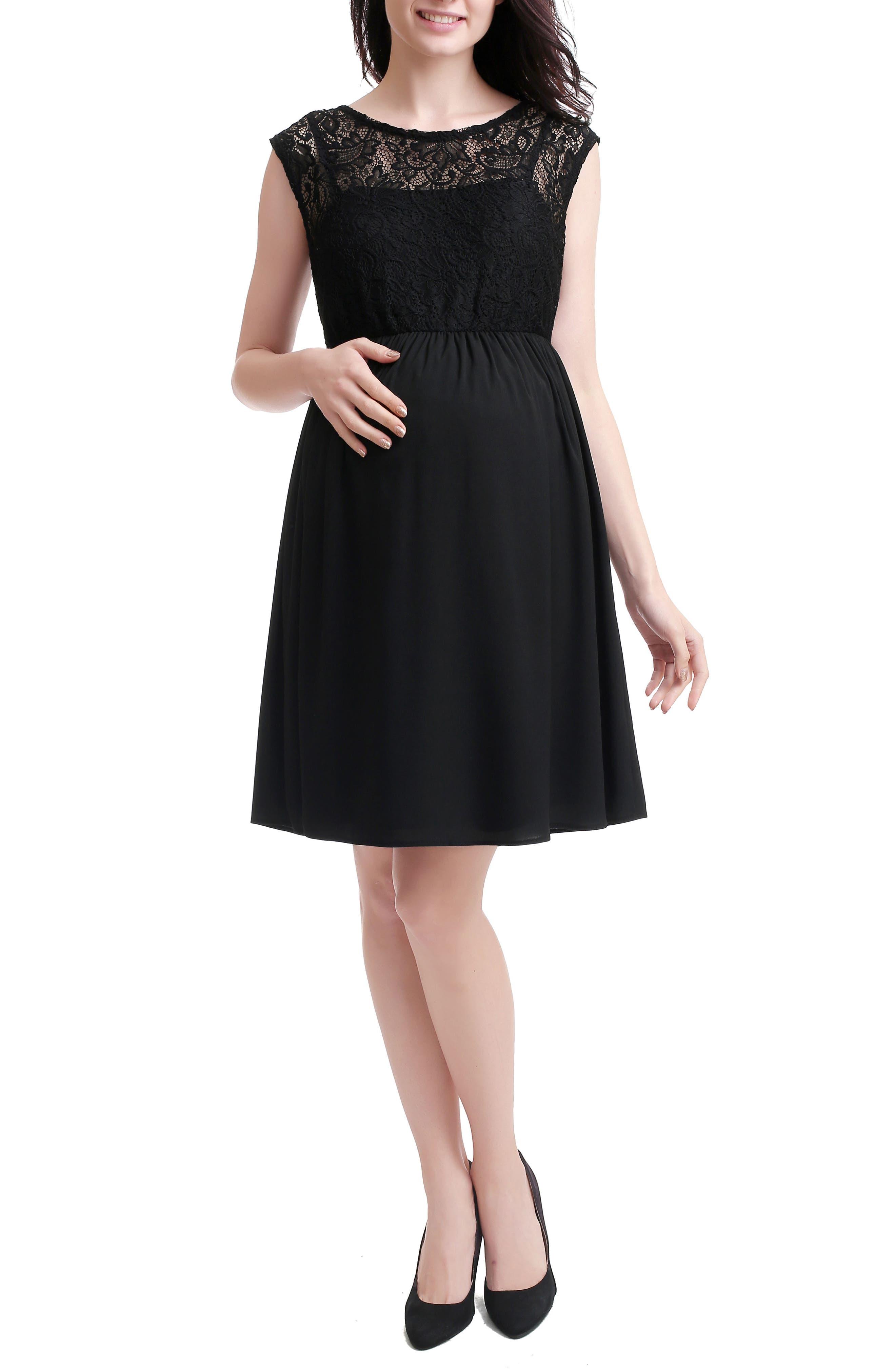 Kimi And Kai Genevieve Lace Maternity Dress