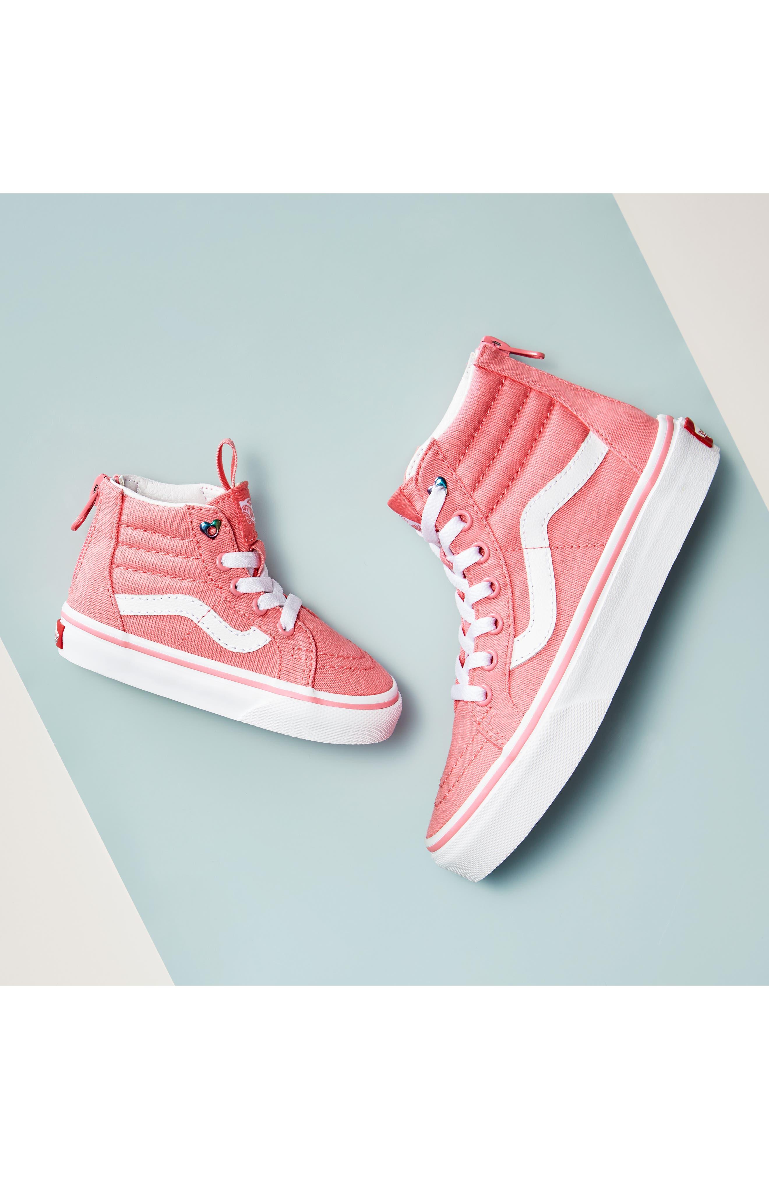 VANS, 'Sk8-Hi' Sneaker, Alternate thumbnail 7, color, INDIGO BUNTING/ TRUE WHITE