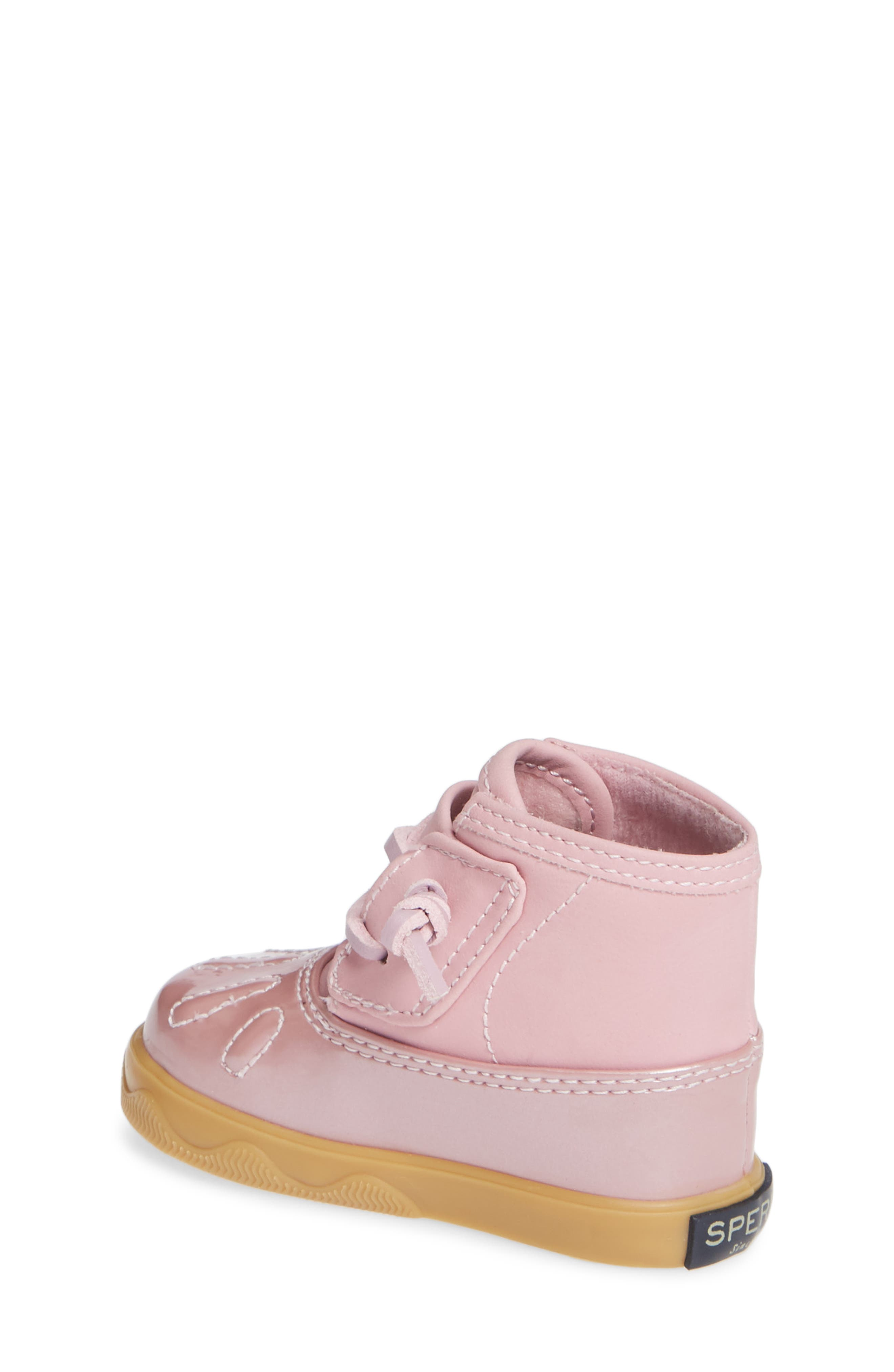 SPERRY KIDS, Sperry Icestorm Crib Duck Bootie, Alternate thumbnail 2, color, 650