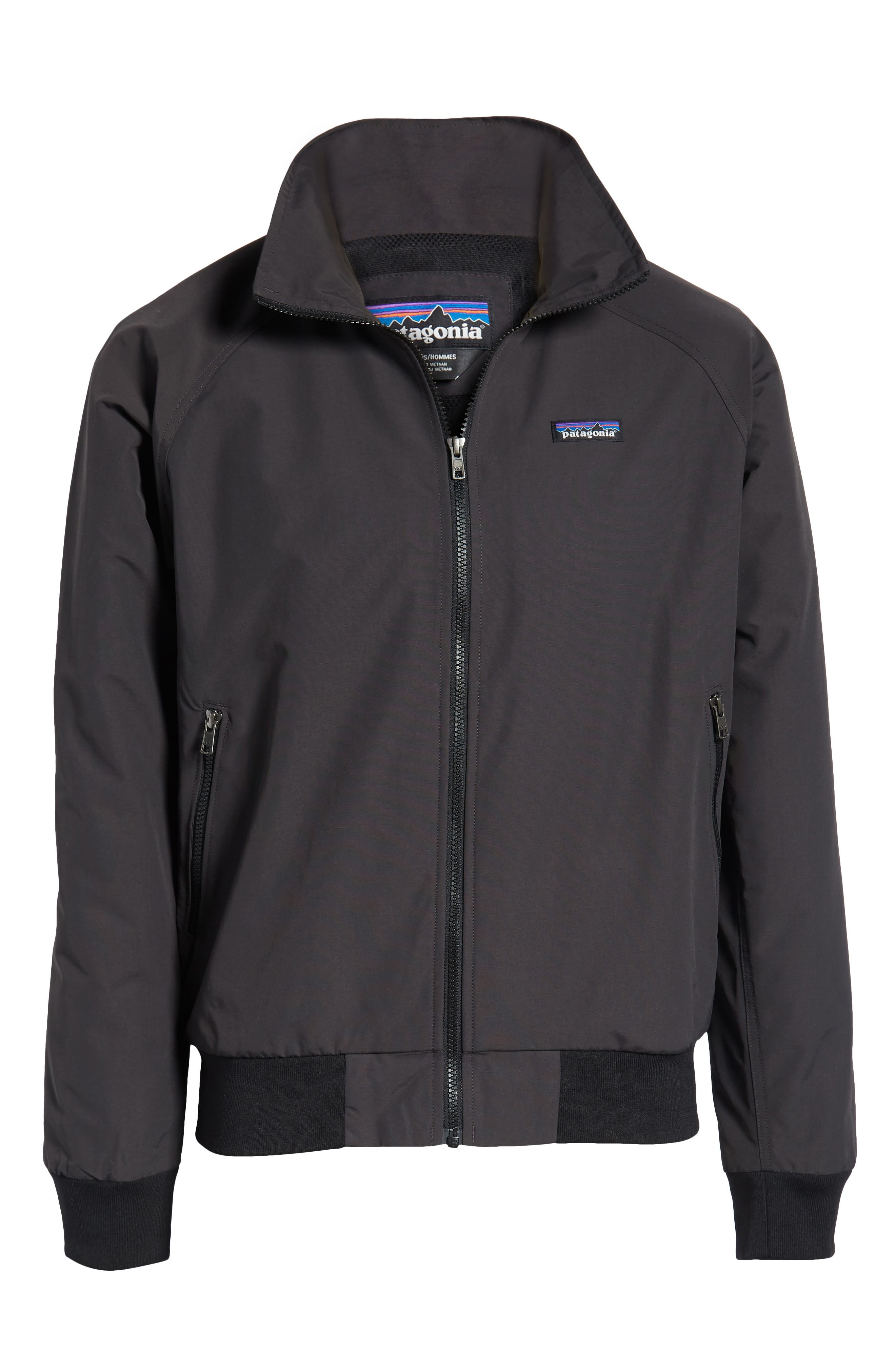PATAGONIA, Baggies Wind & Water Resistant Jacket, Alternate thumbnail 6, color, INK BLACK