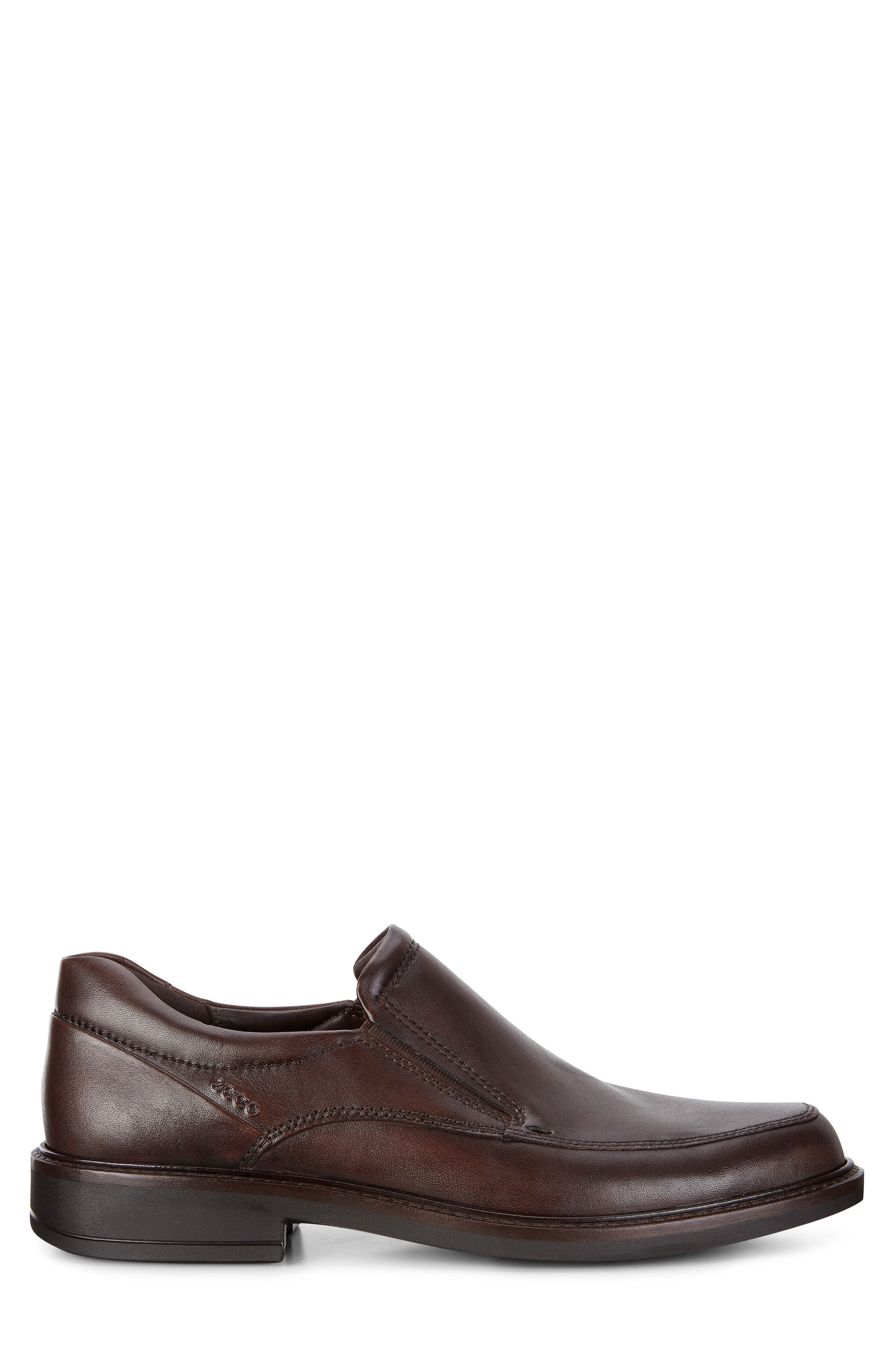 ECCO, Holton Slip-On, Alternate thumbnail 3, color, BROWN LEATHER