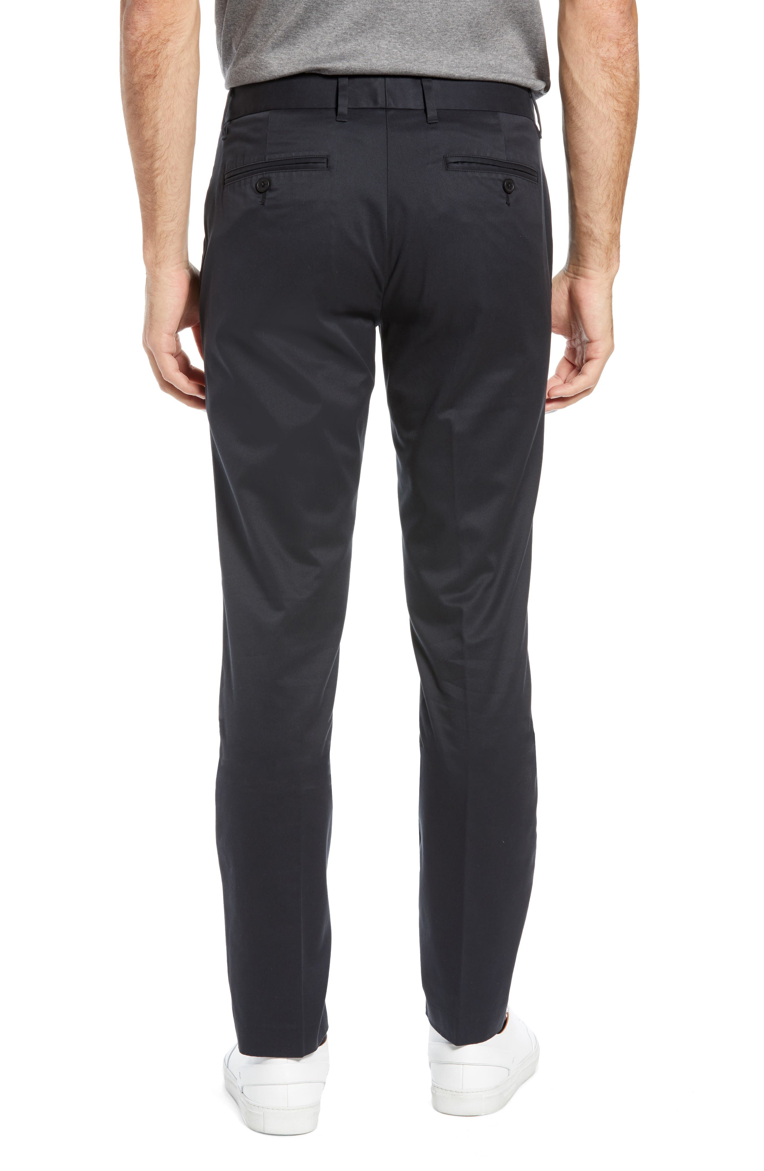 BONOBOS, Weekday Warrior Tailored Fit Stretch Dress Pants, Alternate thumbnail 2, color, BLACK