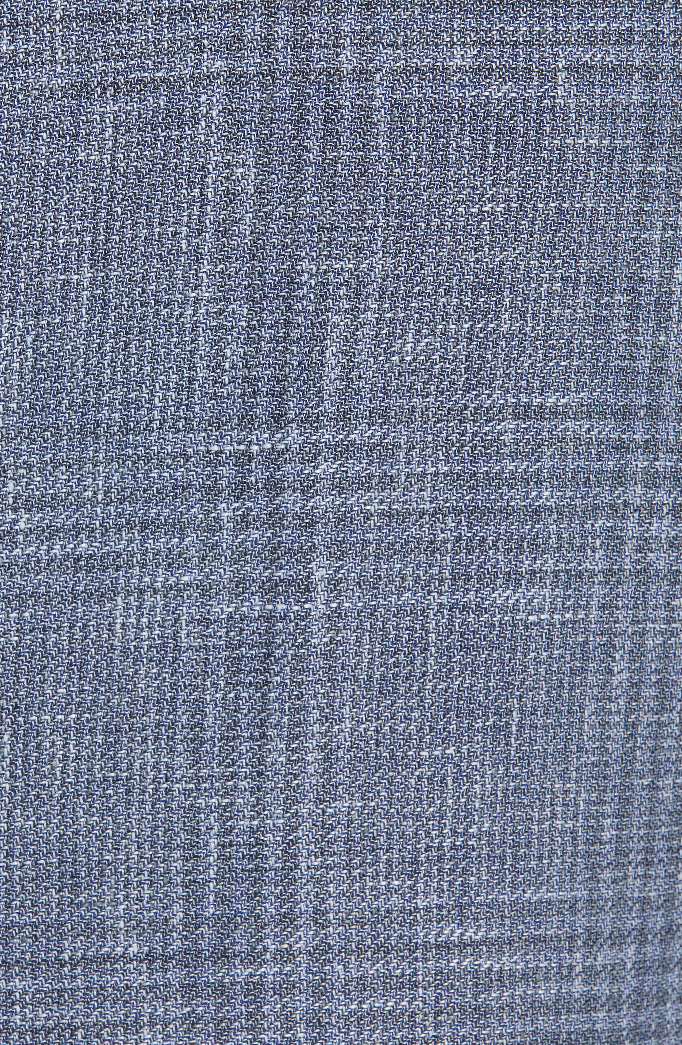 ERMENEGILDO ZEGNA, Milano Classic Fit Plaid Sport Coat, Alternate thumbnail 6, color, BLUE
