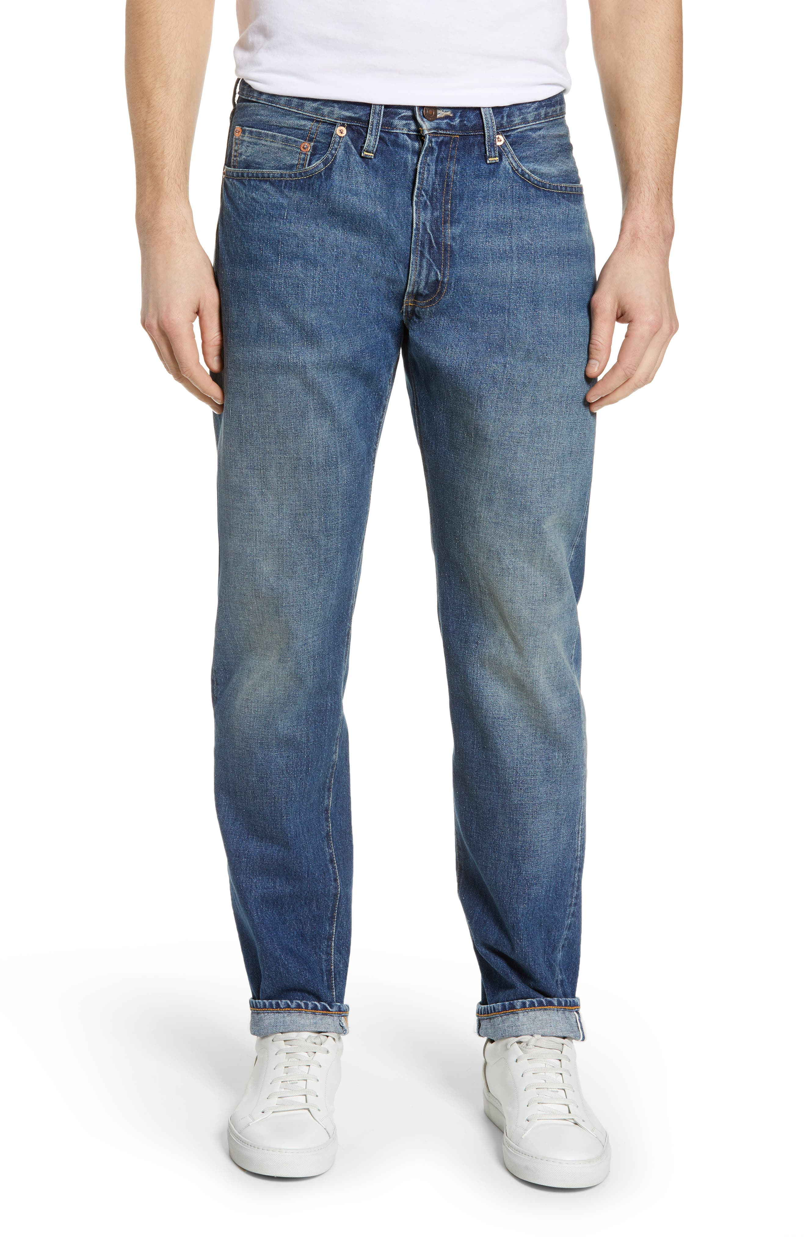 LEVI'S<SUP>®</SUP> VINTAGE CLOTHING 1954 501<sup>®</sup> Straight Leg Jeans, Main, color, PINWHEEL