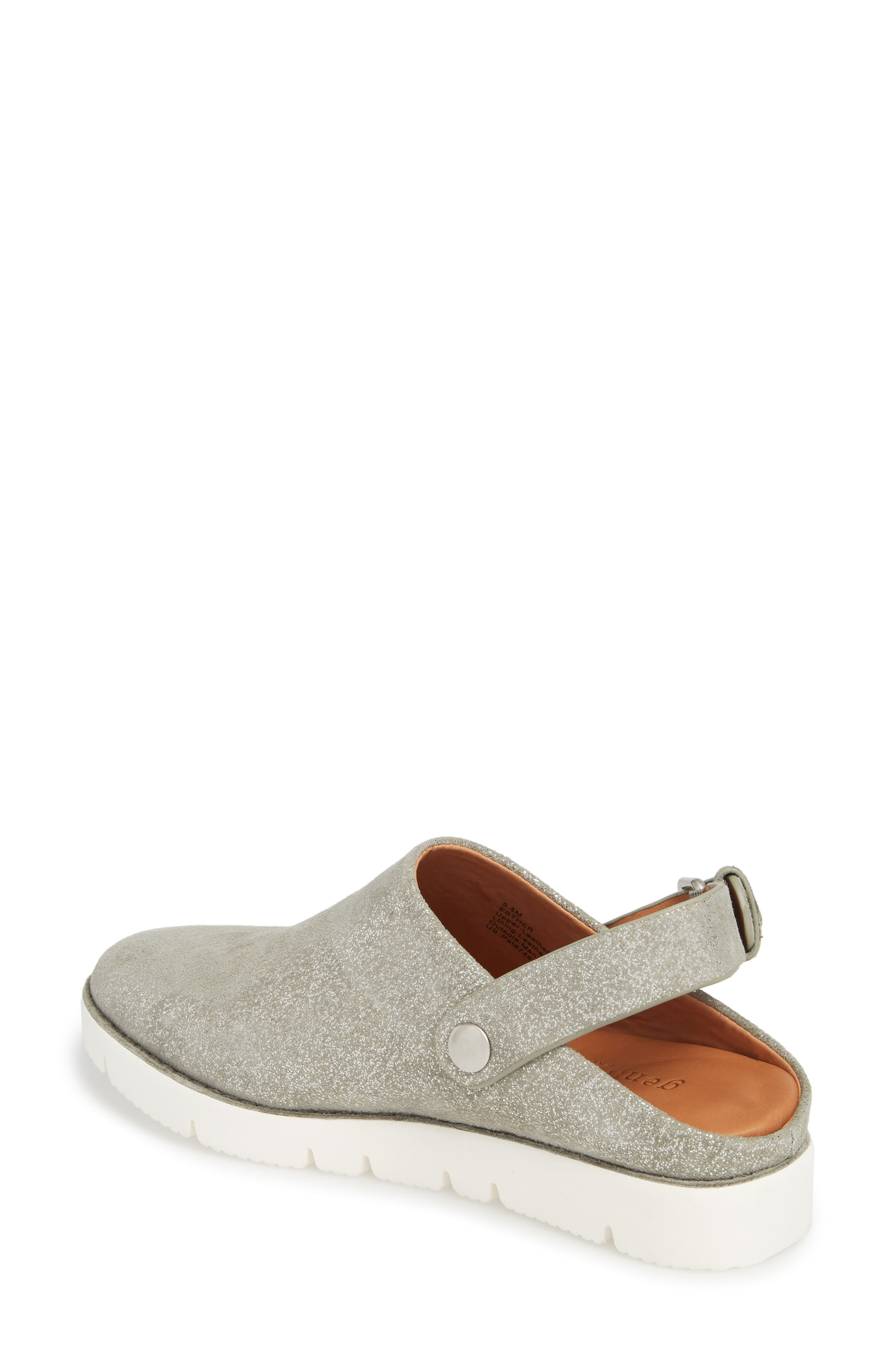 GENTLE SOULS BY KENNETH COLE, Esther Convertible Wedge, Alternate thumbnail 2, color, LIGHT PEWTER METALLIC LEATHER