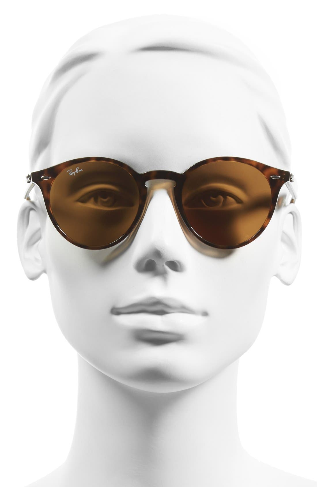 RAY-BAN, Highstreet 49mm Round Sunglasses, Alternate thumbnail 2, color, DARK HAVANA