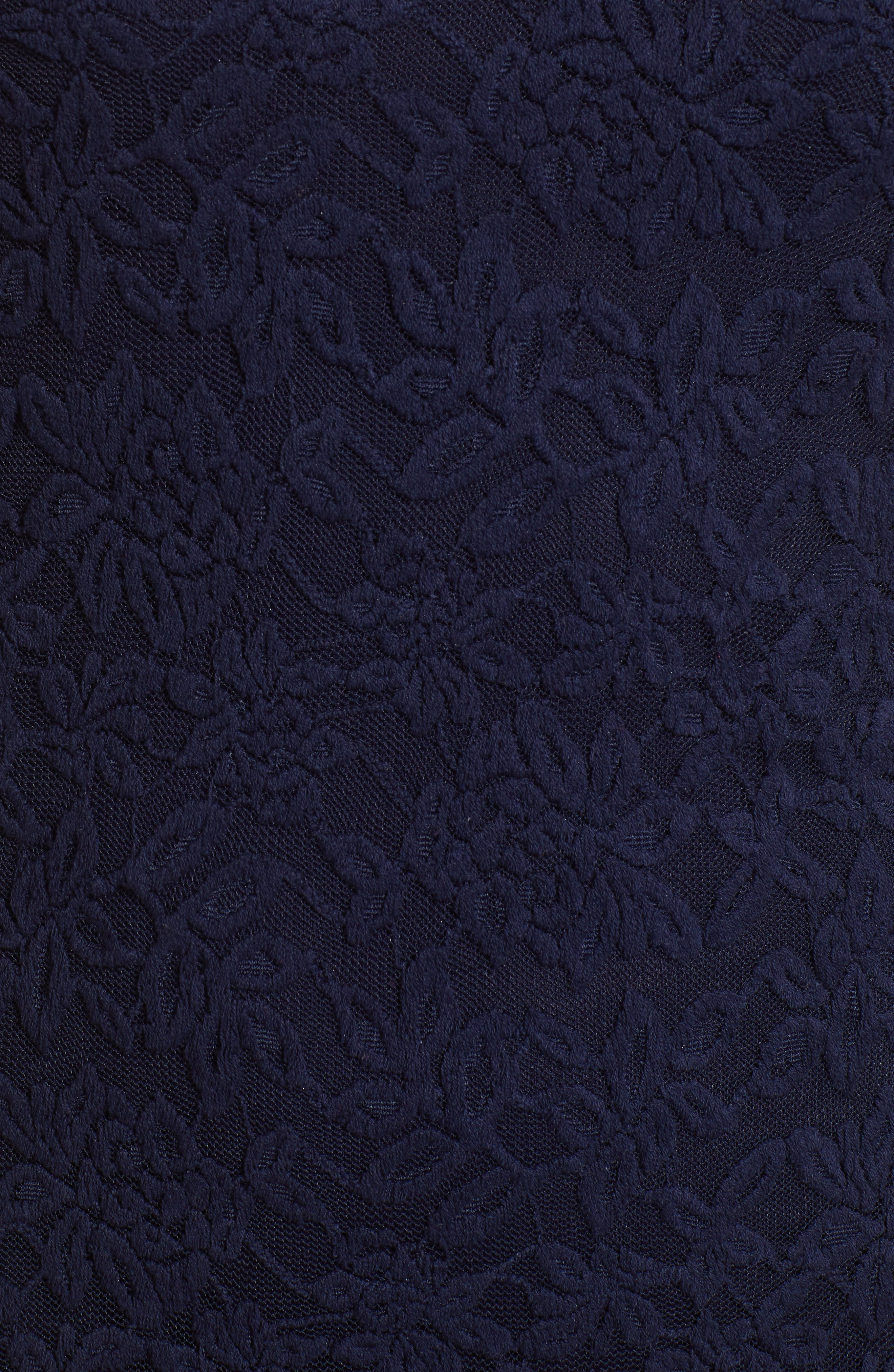 ROSEMUNDE, Delicia Lace Body-Con Dress, Alternate thumbnail 6, color, MARITIME BLUE