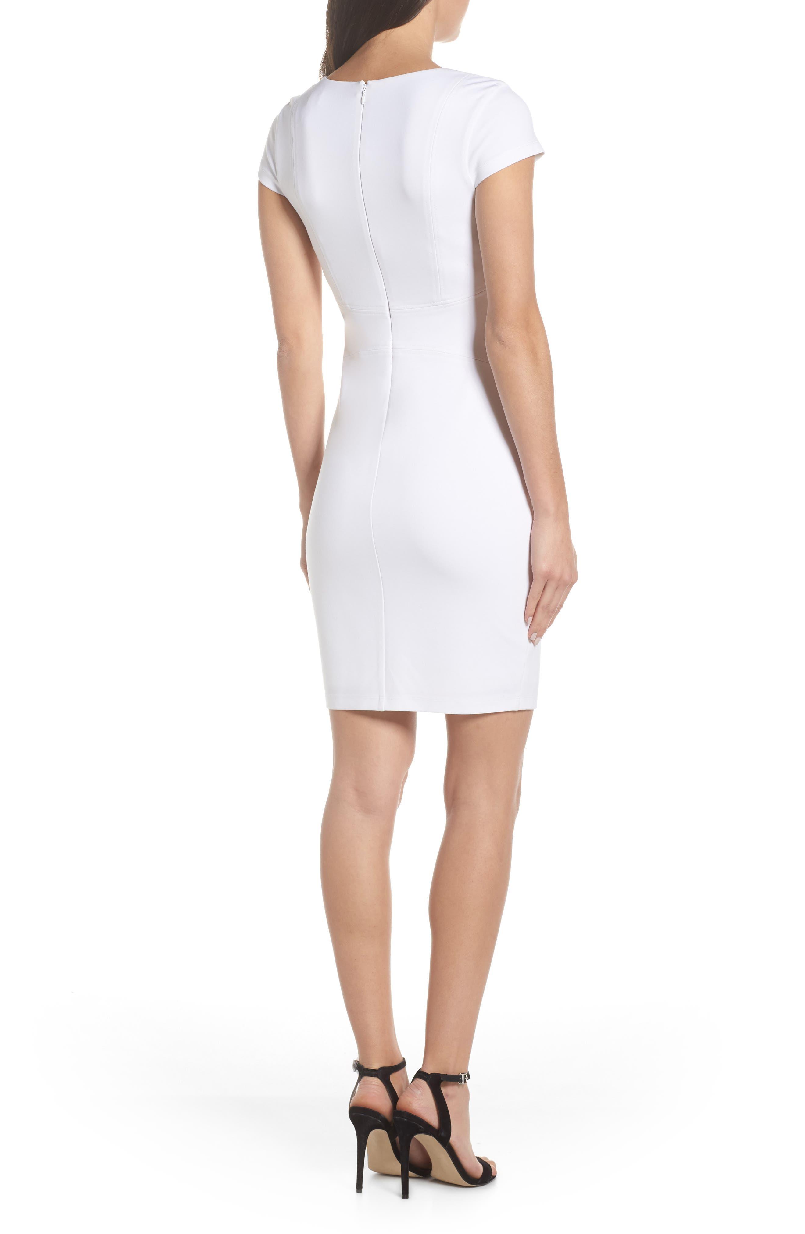 ALI & JAY, Olive Street Body-Con Dress, Alternate thumbnail 2, color, WHITE