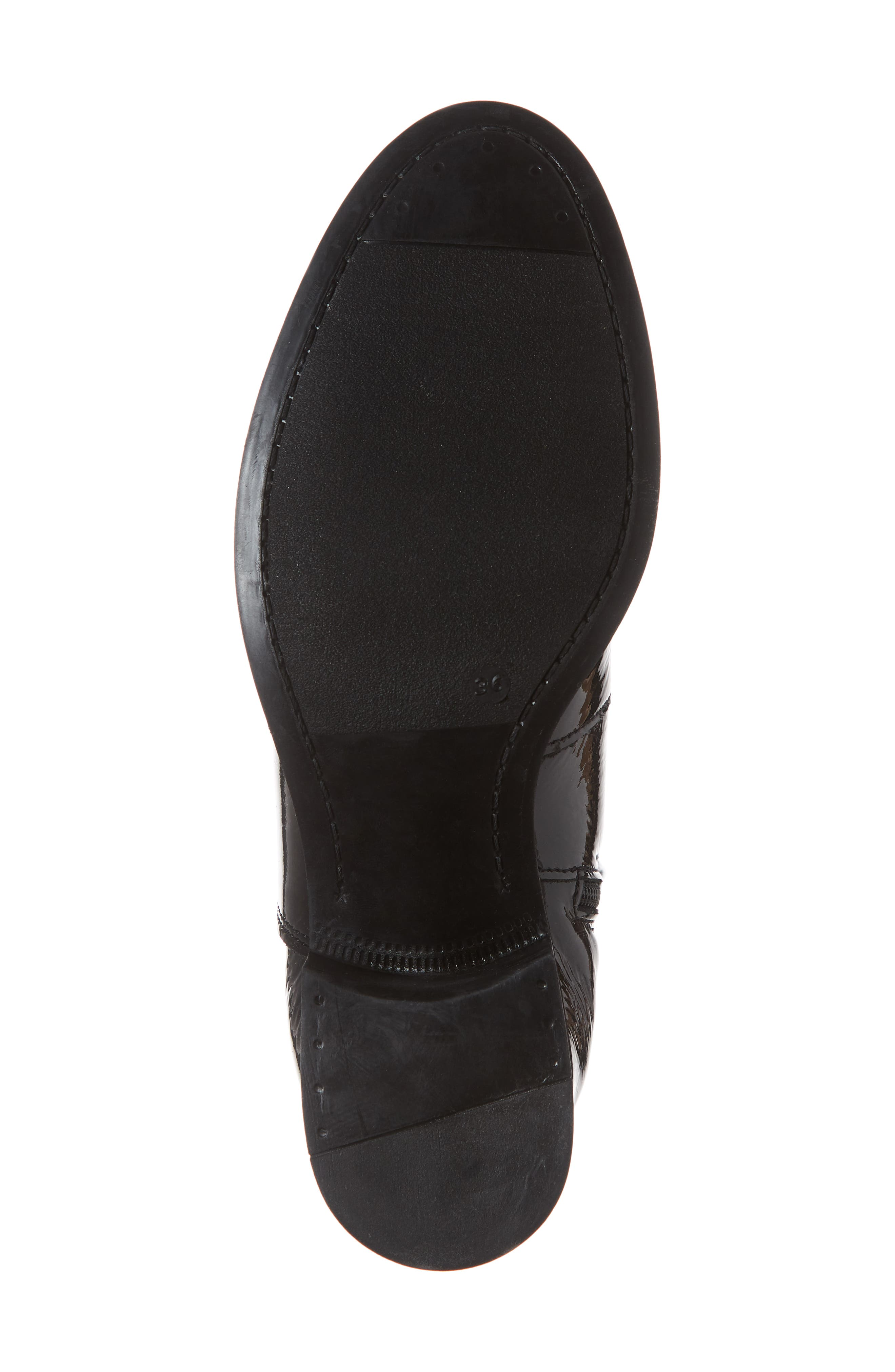 BOS. & CO., Brook Waterproof Knee High Boot, Alternate thumbnail 6, color, BLACK PATENT LEATHER