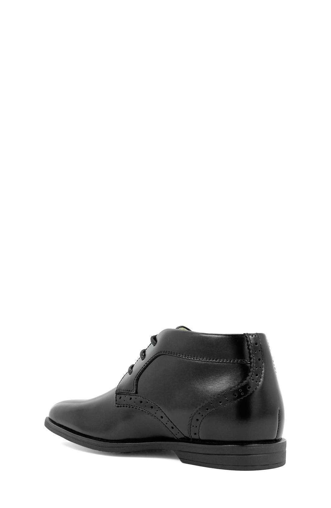 FLORSHEIM, 'Reveal' Chukka Boot, Alternate thumbnail 4, color, BLACK LEATHER