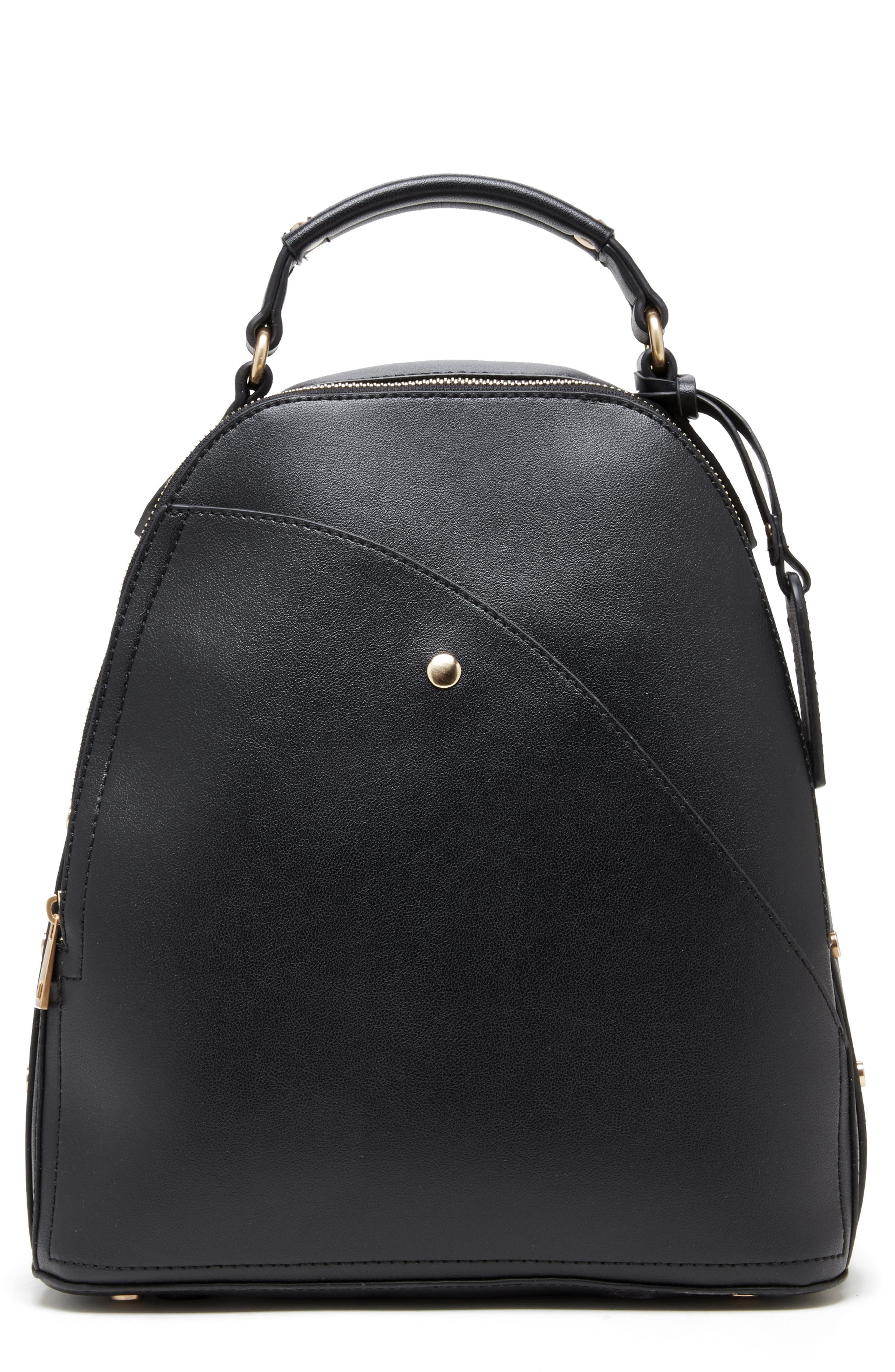 SOLE SOCIETY Hingi Faux Leather Backpack, Main, color, 001