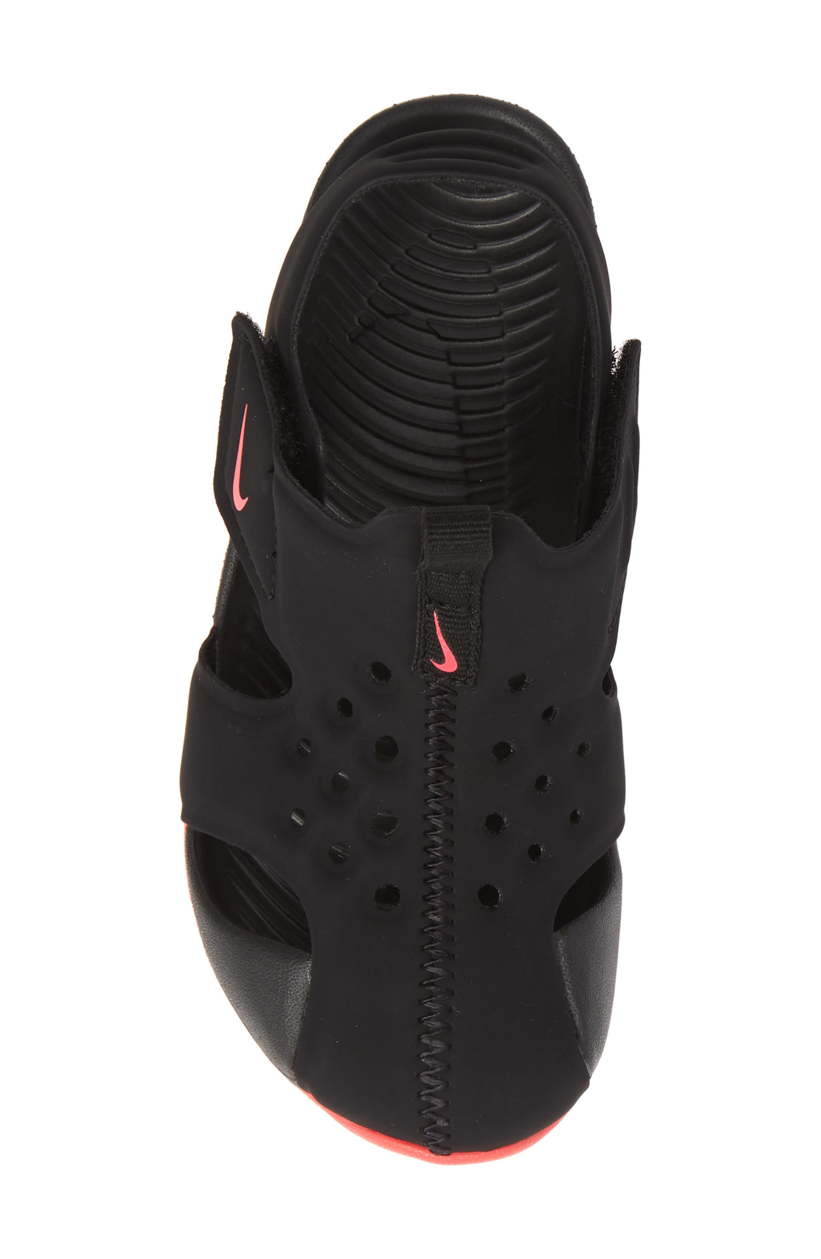 NIKE, Sunray Protect 2 Sandal, Alternate thumbnail 5, color, BLACK/ RACER PINK