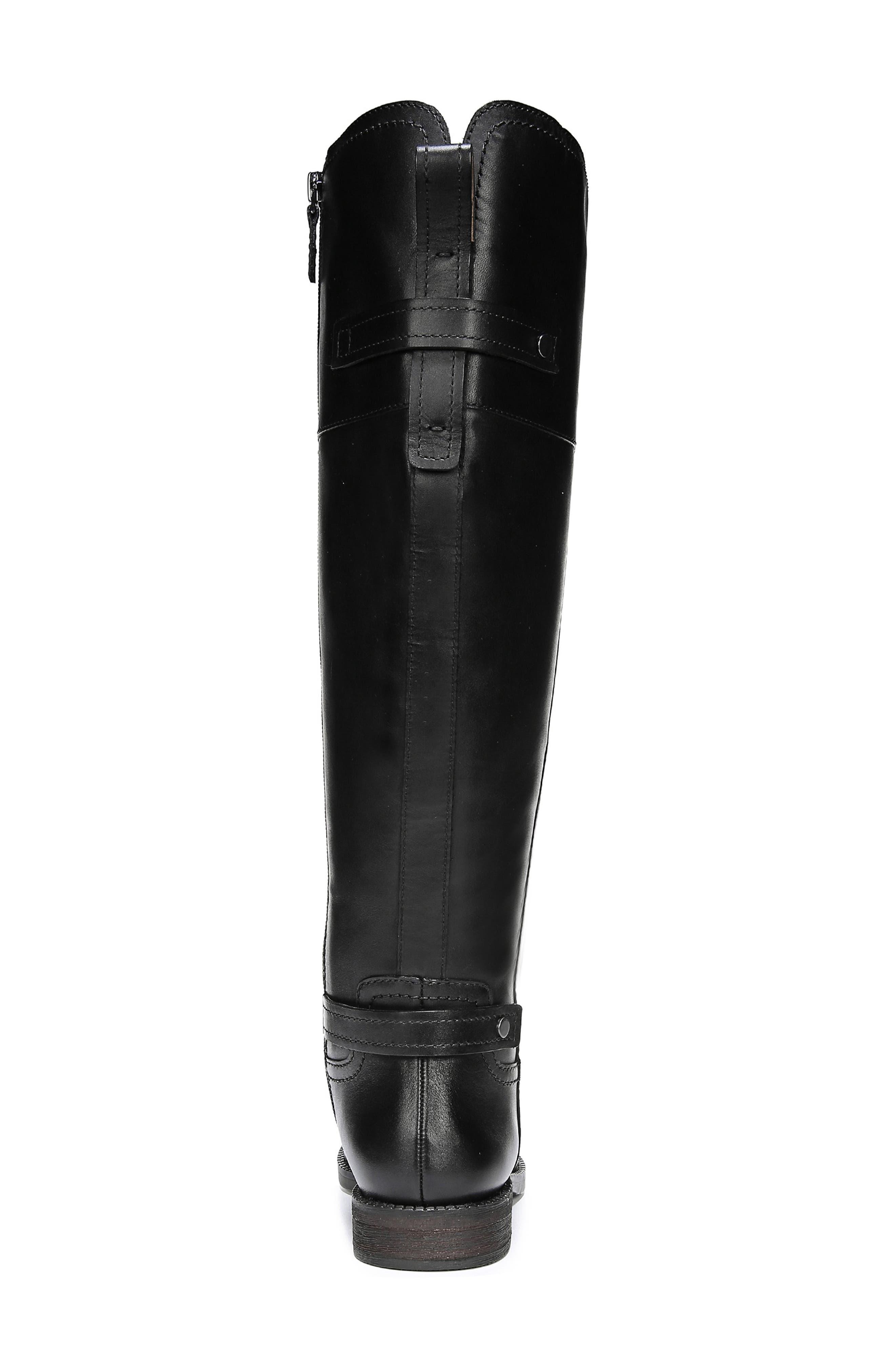 FRANCO SARTO, Capitol Riding Boot, Alternate thumbnail 8, color, BLACK LEATHER