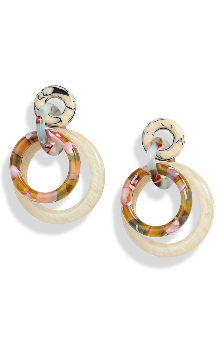 Lele Sadoughi Accessories DOUBLE RING HOOP EARRINGS