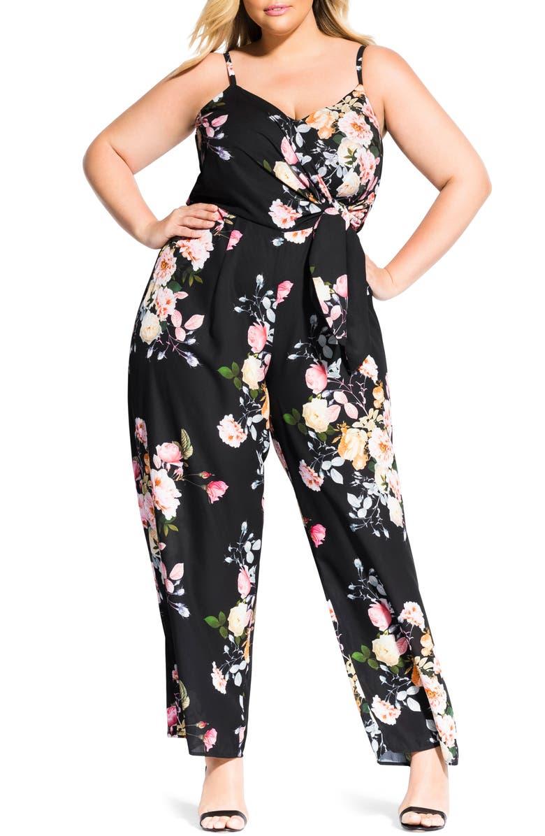 City Chic Suits TUSCAN WIDE LEG JUMPSUIT