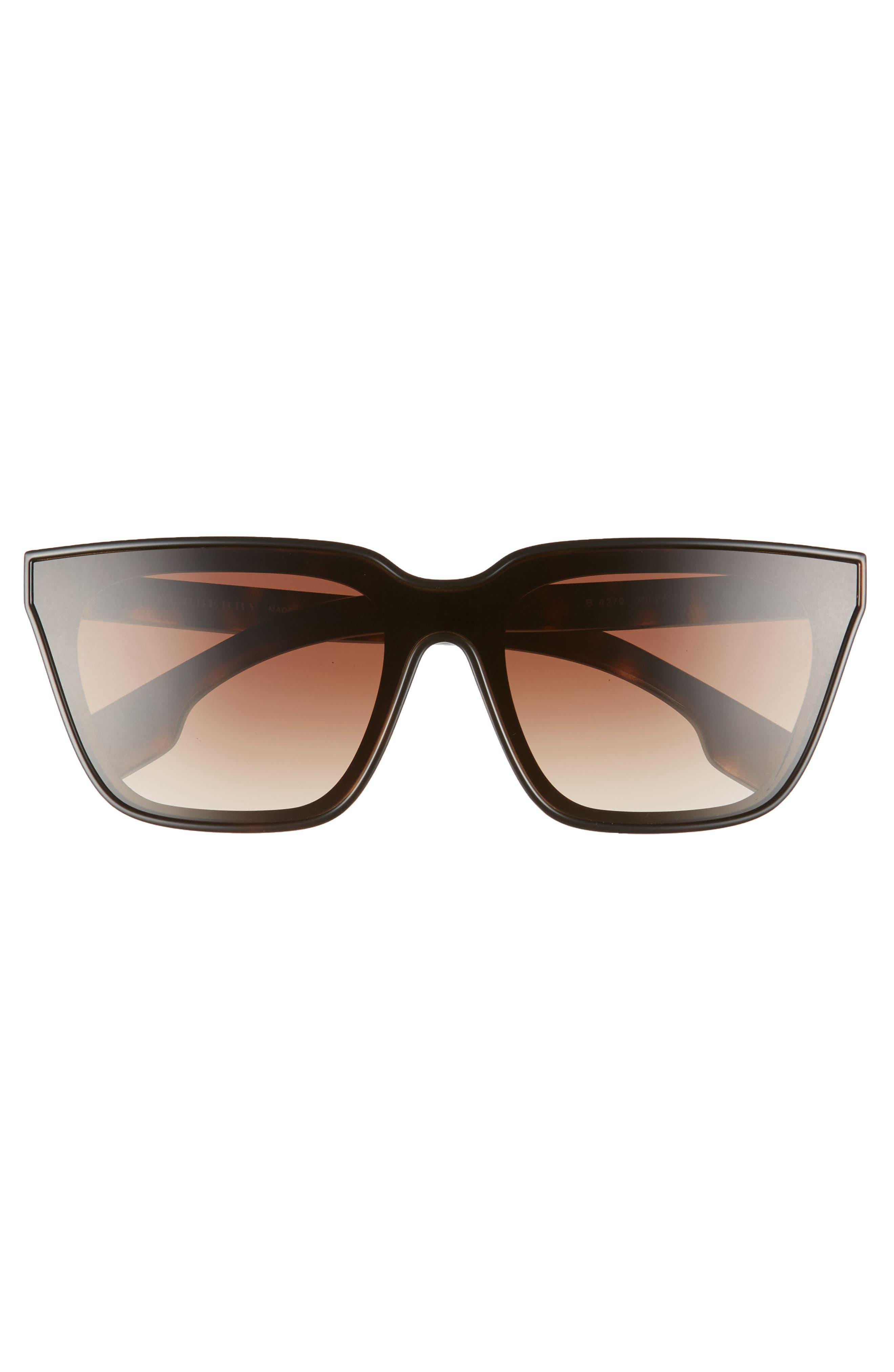 BURBERRY, 40mm Square Sunglasses, Alternate thumbnail 3, color, BLACK/ DARK HAVANA GRADIENT