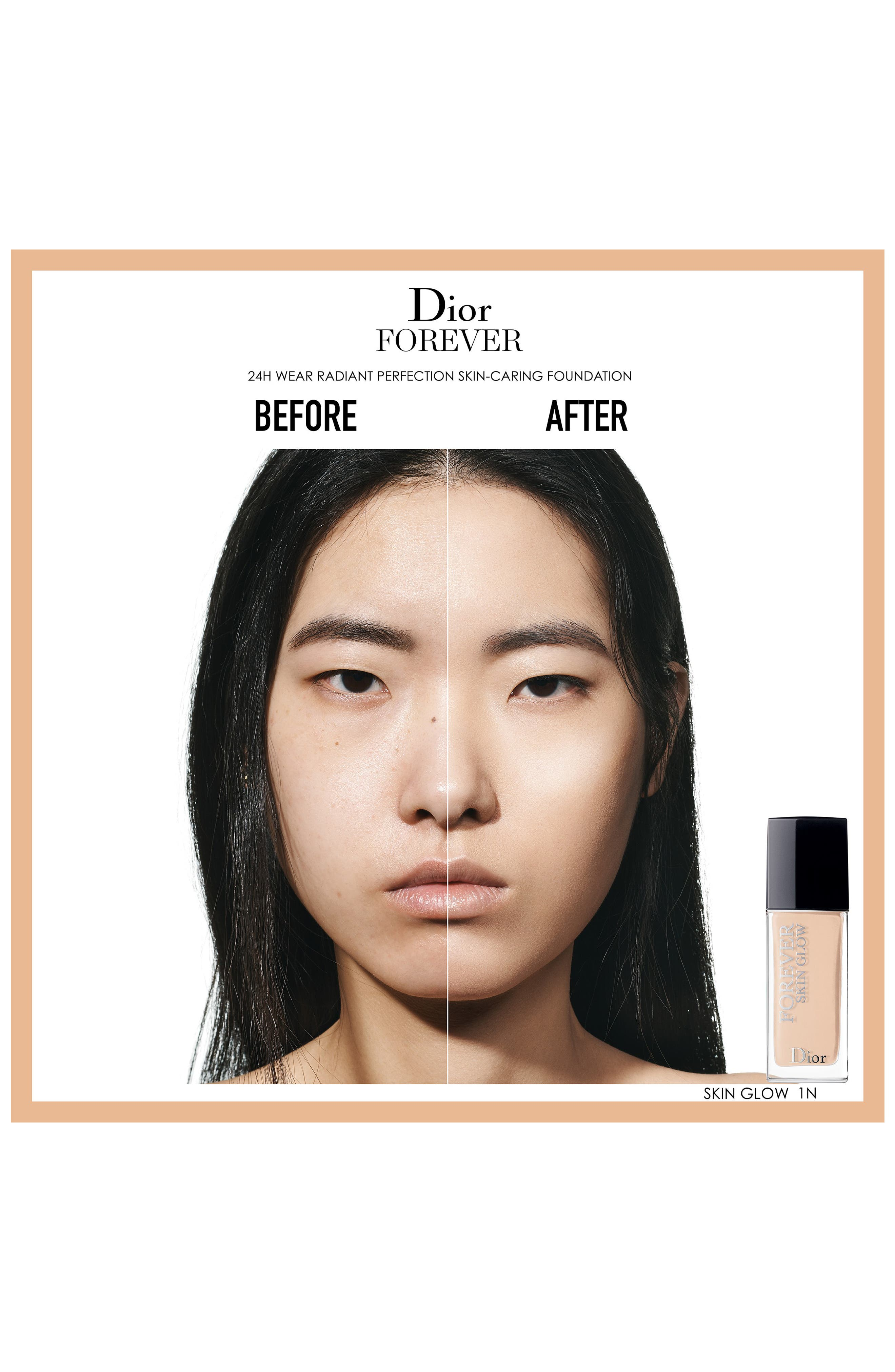 DIOR, Forever Skin Glow Radiant Perfection Skin-Caring Foundation SPF 35, Alternate thumbnail 2, color, 1 COOL ROSY