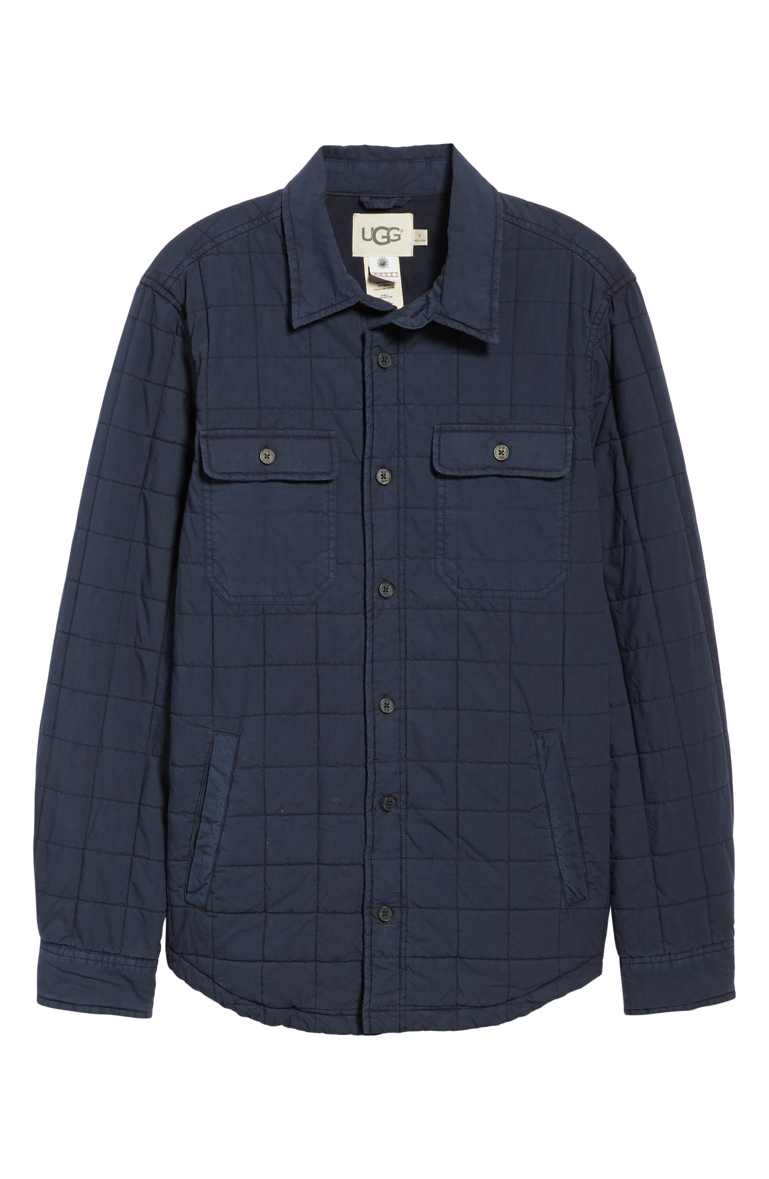 UGG<SUP>®</SUP>, Quilted Shirt Jacket, Alternate thumbnail 6, color, 400