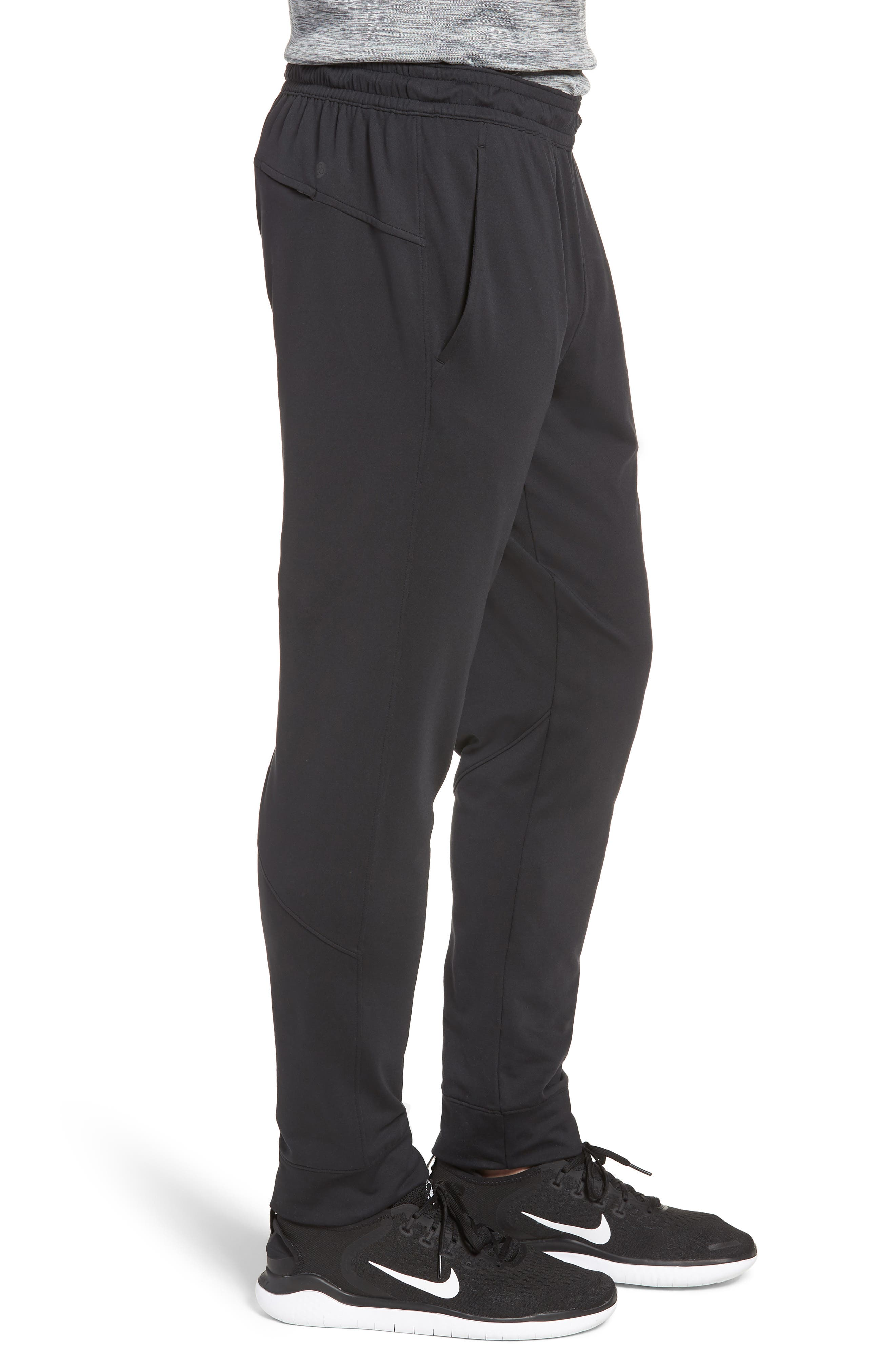 ZELLA, Pyrite Technical Jogger Pants, Alternate thumbnail 4, color, BLACK