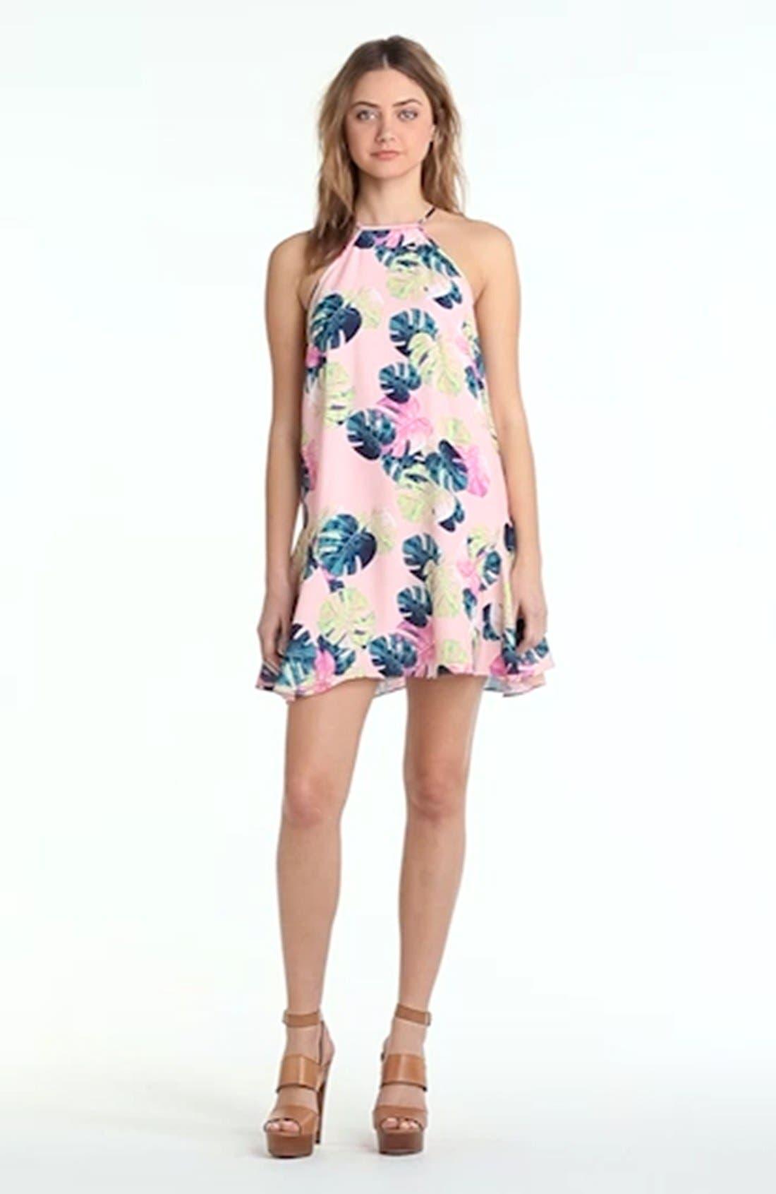 WHITNEY EVE, Palm Leaf Dress, Alternate thumbnail 2, color, 200