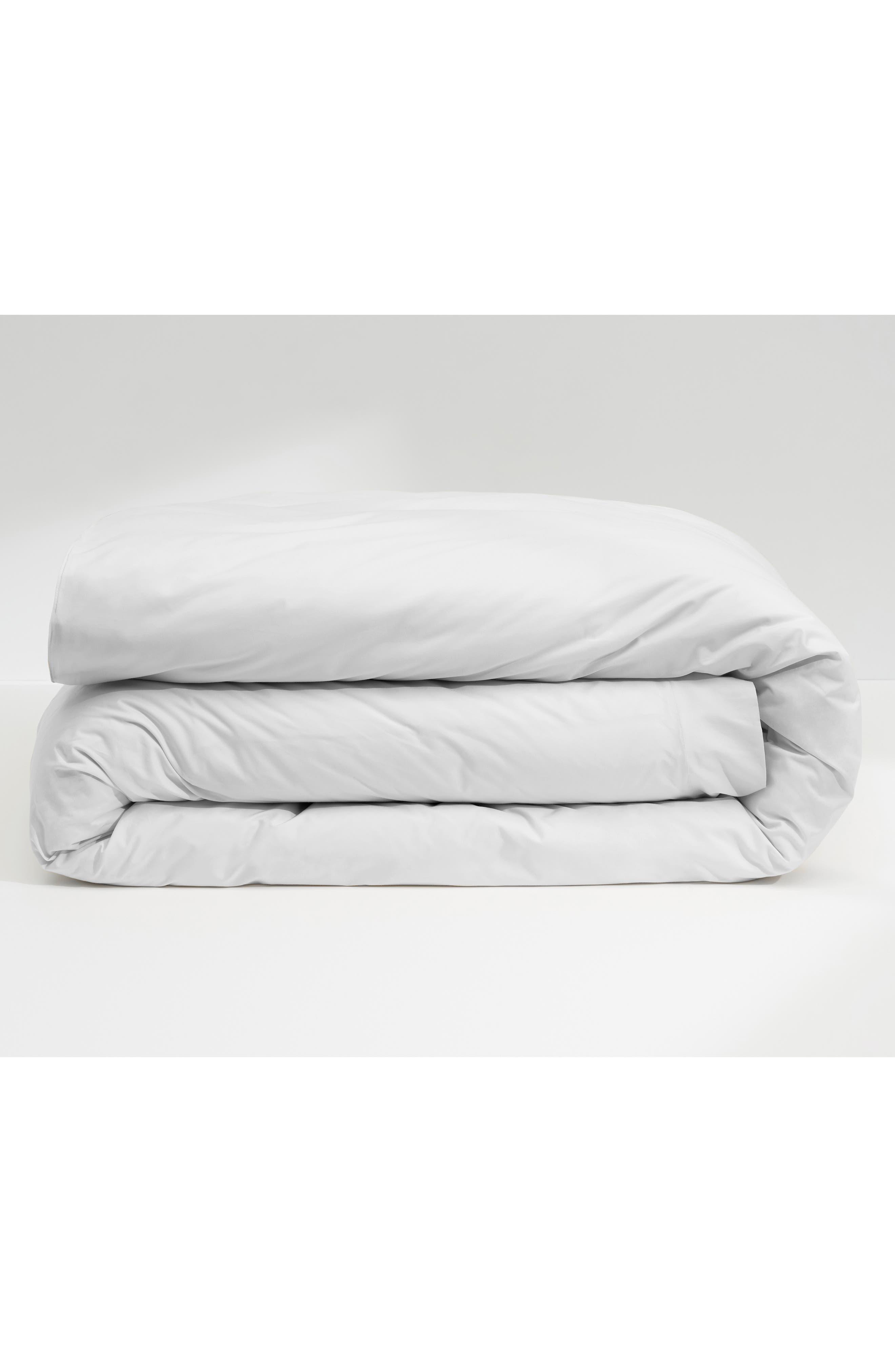 CASPER, The Supima 400 Thread Count Duvet Cover, Main thumbnail 1, color, WHITE