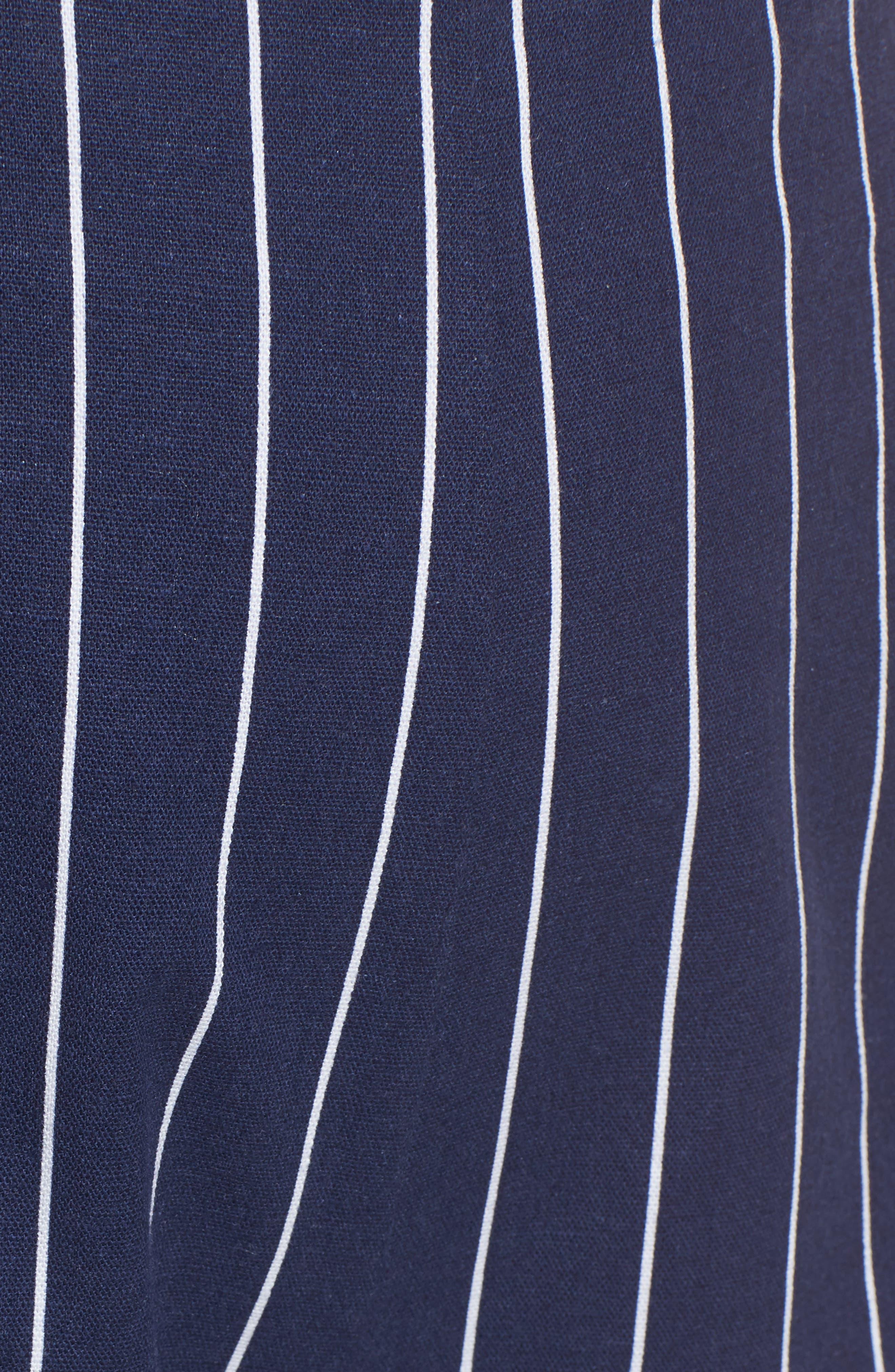 WAYF, Pisa High Waist Crop Pants, Alternate thumbnail 6, color, 400