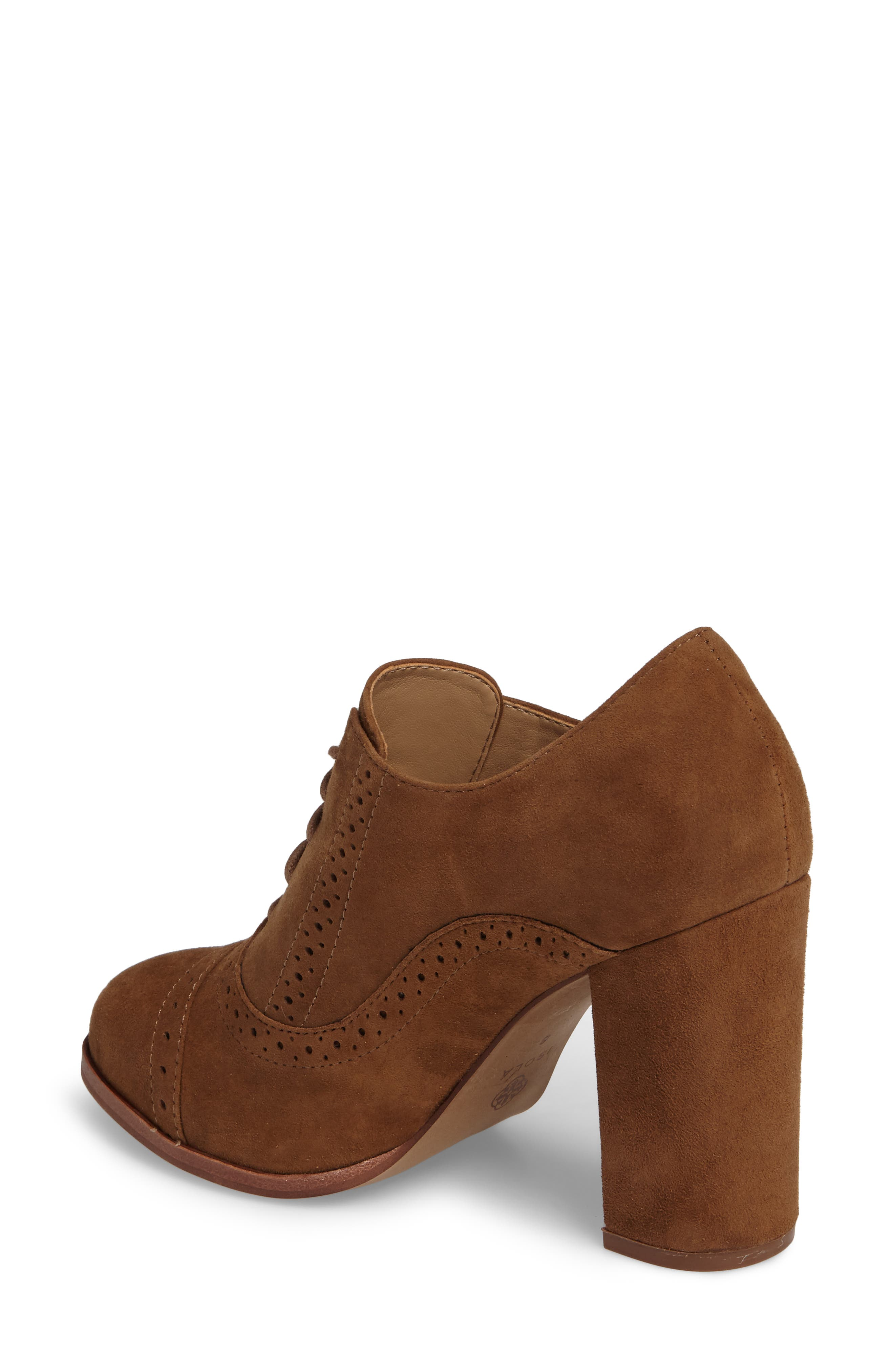 ISOLÁ, Holli Oxford Pump, Alternate thumbnail 2, color, LIGHT BROWN SUEDE