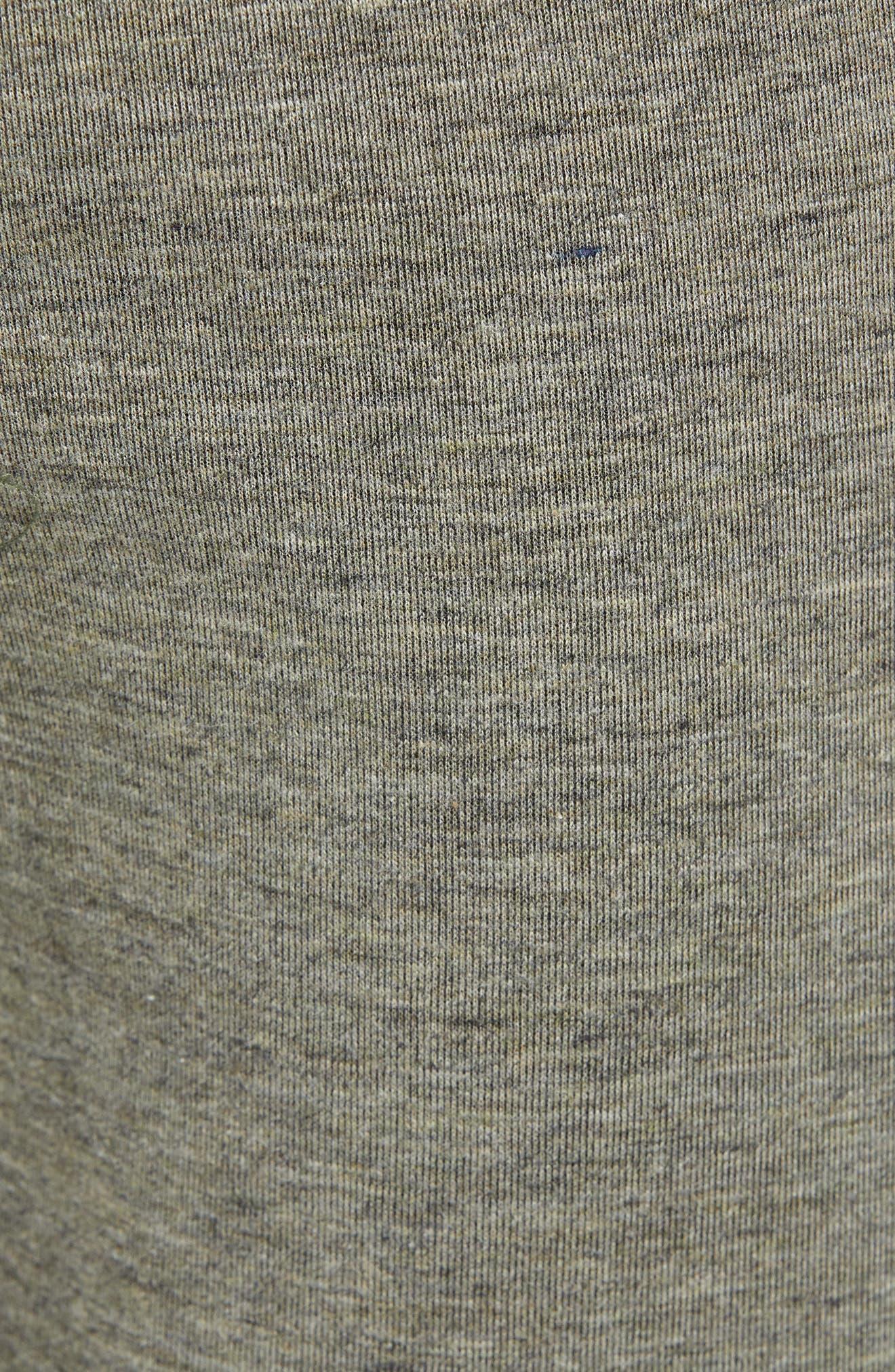 ZELLA, Magnetite Fleece Jogger Pants, Alternate thumbnail 6, color, GREEN VETIVER MELANGE