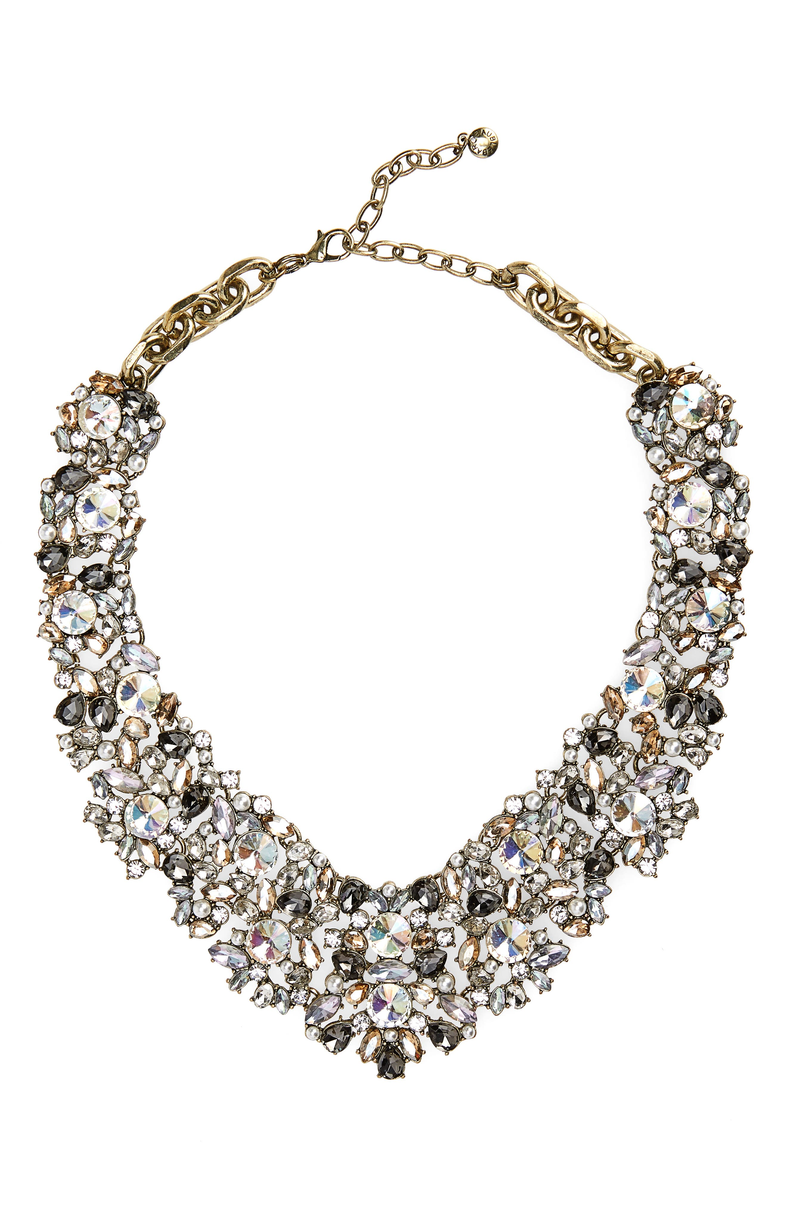 BAUBLEBAR, Crystal Collar Necklace, Main thumbnail 1, color, 020