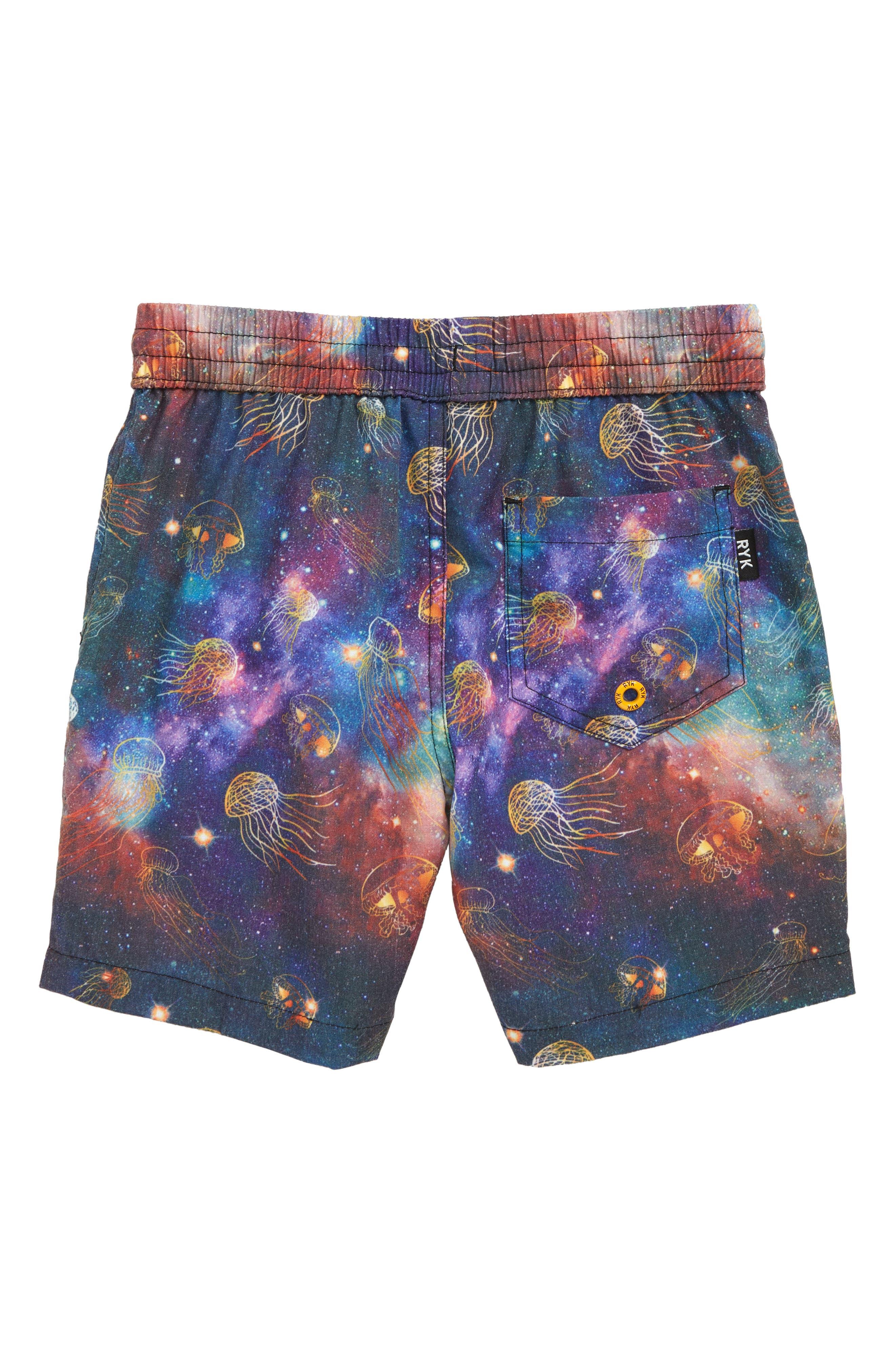 ROCK YOUR KID, Intergalactic Board Shorts, Alternate thumbnail 2, color, BLACK