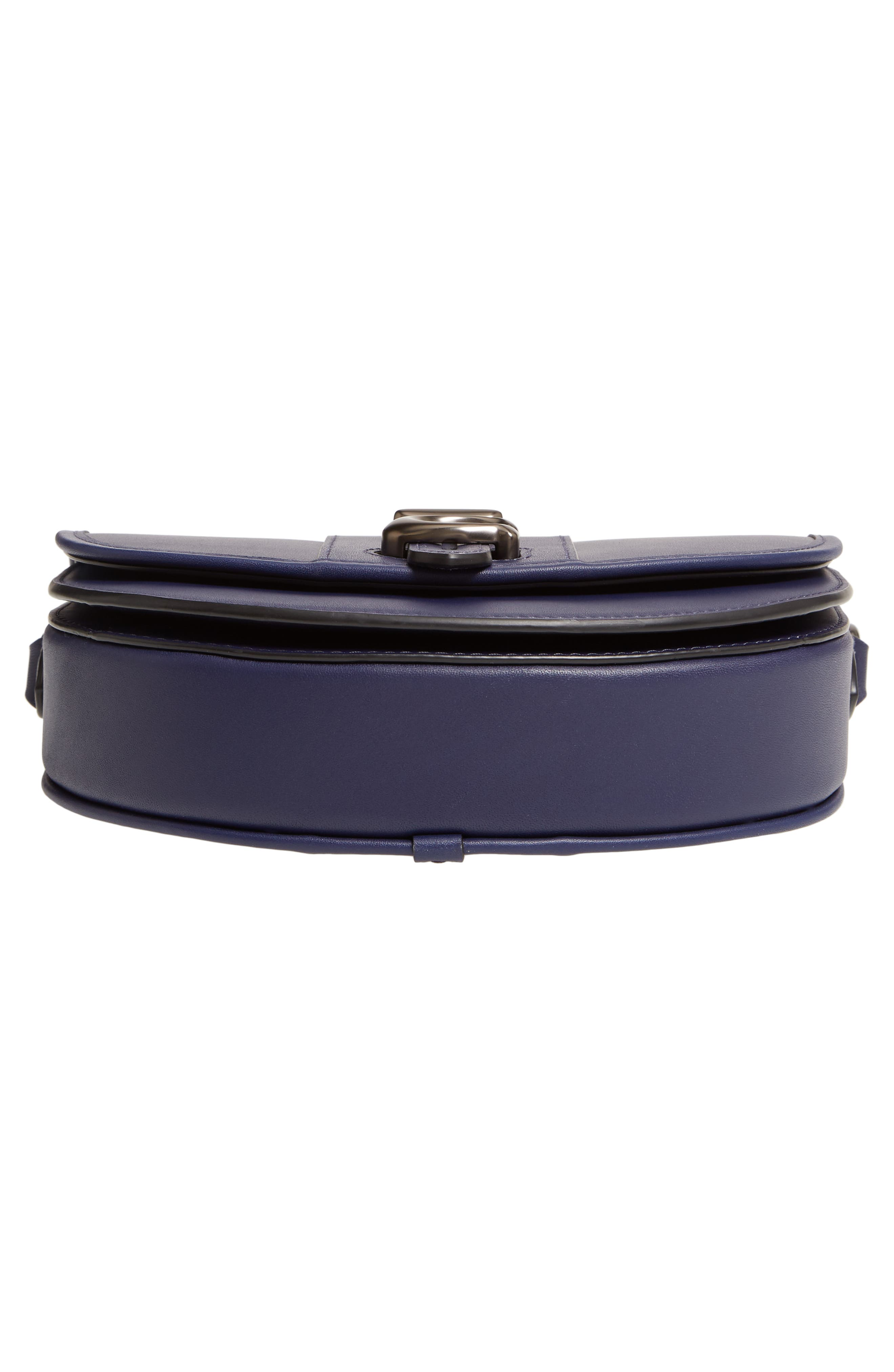 COACH, Saddle 20 Leather Saddle Bag, Alternate thumbnail 7, color, CADET