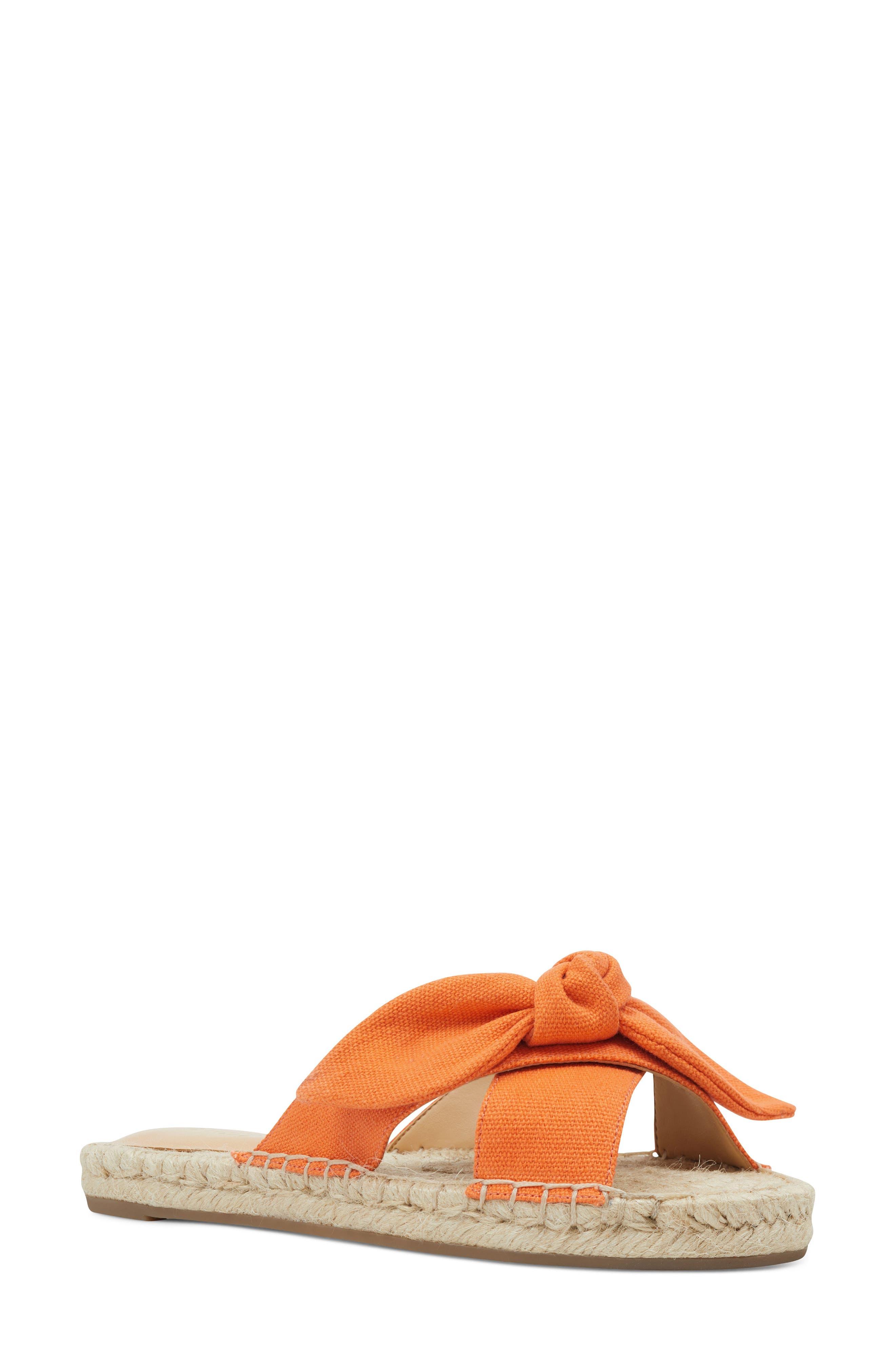 Nine West Brielle Espadrille Slide Sandal- Orange