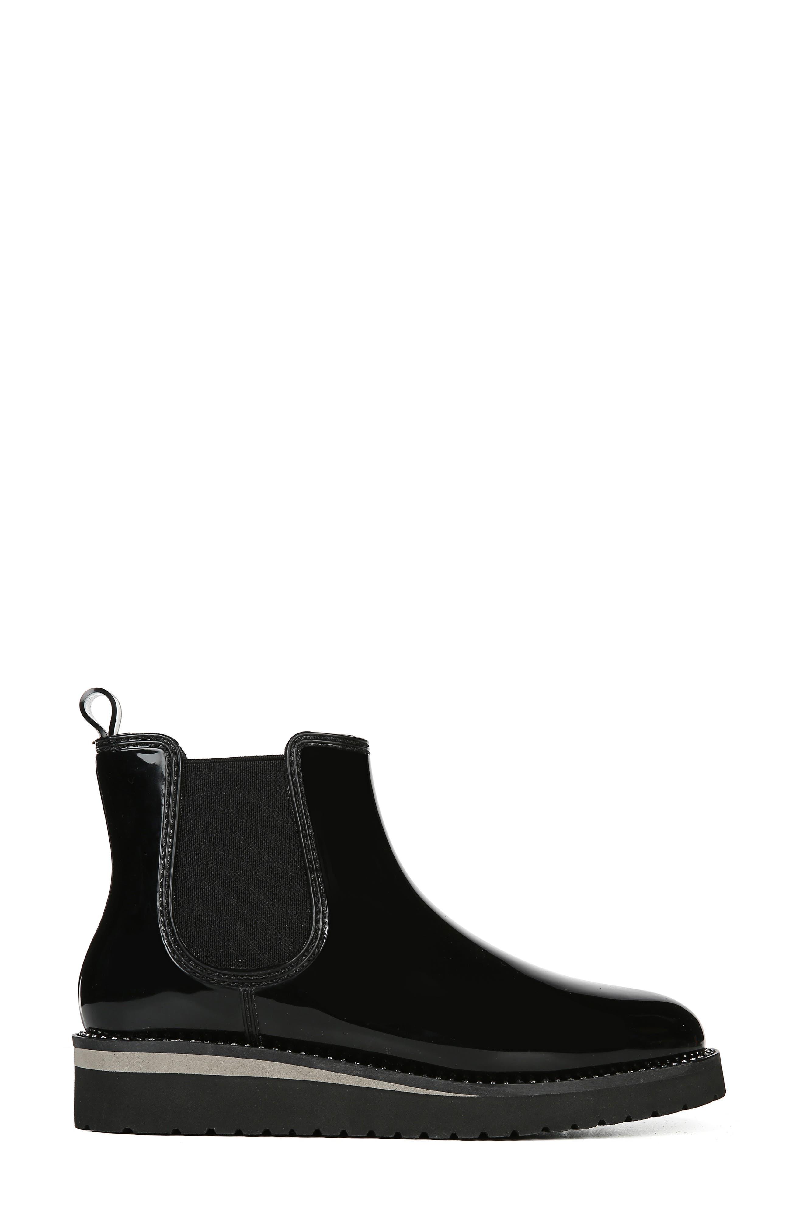 NATURALIZER, Luna Waterproof Chelsea Boot, Alternate thumbnail 3, color, BLACK