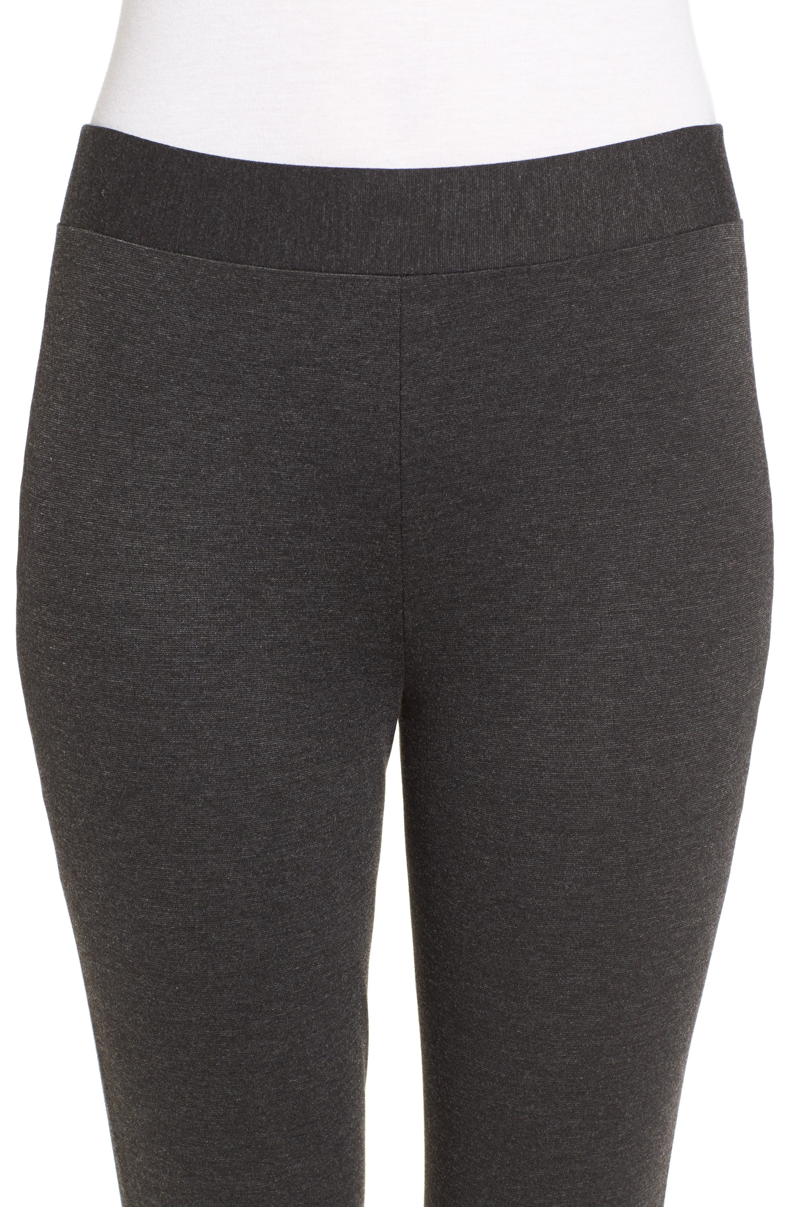 VINCE CAMUTO, Two by Vince Camuto Seamed Back Leggings, Alternate thumbnail 5, color, DARK HEATHER GREY