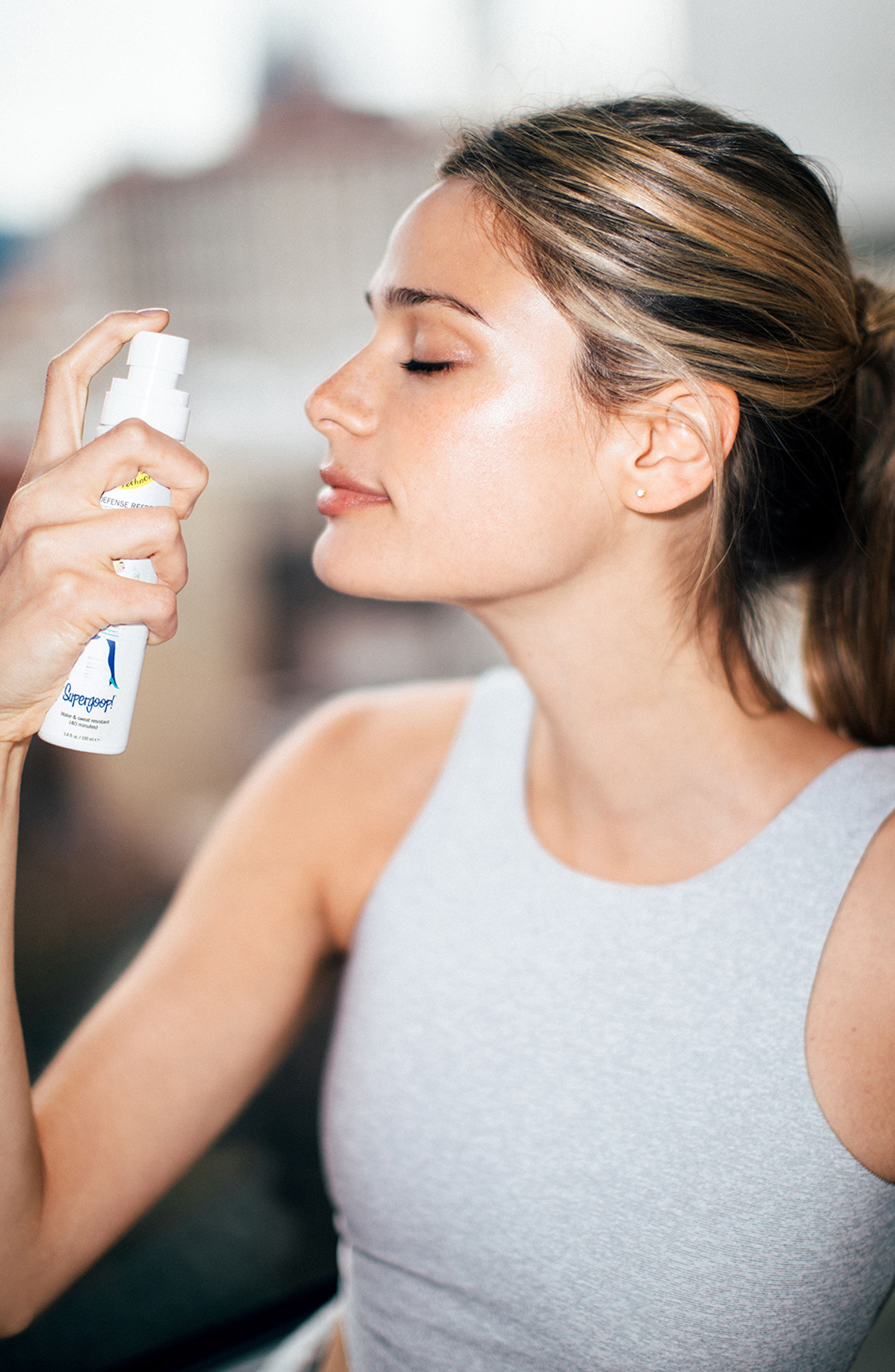SUPERGOOP!<SUP>®</SUP>, Supergoop! Defense Refresh Setting Mist with Rosemary SPF 50, Alternate thumbnail 6, color, 000
