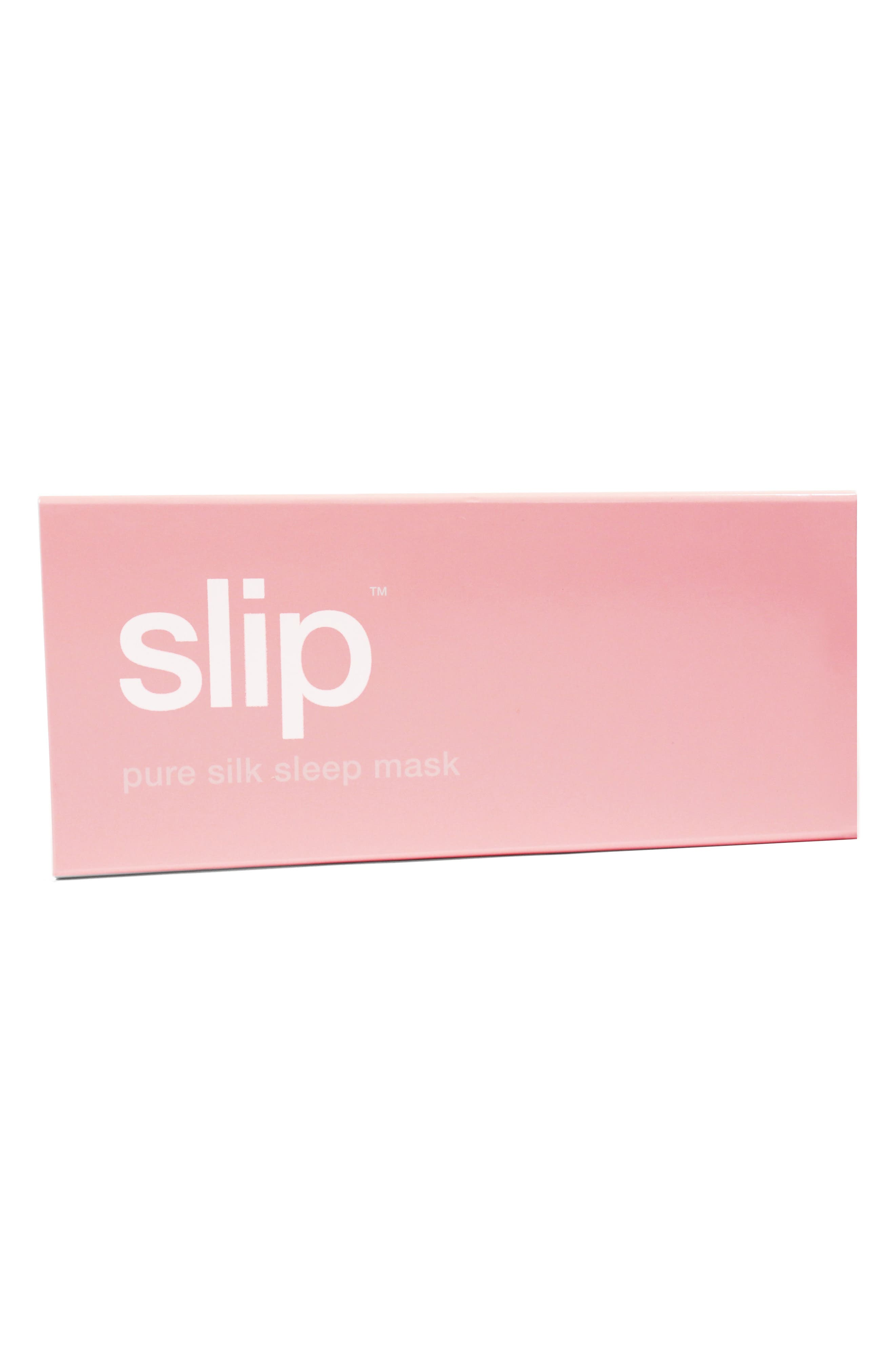 SLIP FOR BEAUTY SLEEP, slip<sup>™</sup> for beauty sleep 'Slipsilk<sup>™</sup>' Pure Silk Sleep Mask, Alternate thumbnail 3, color, PINK