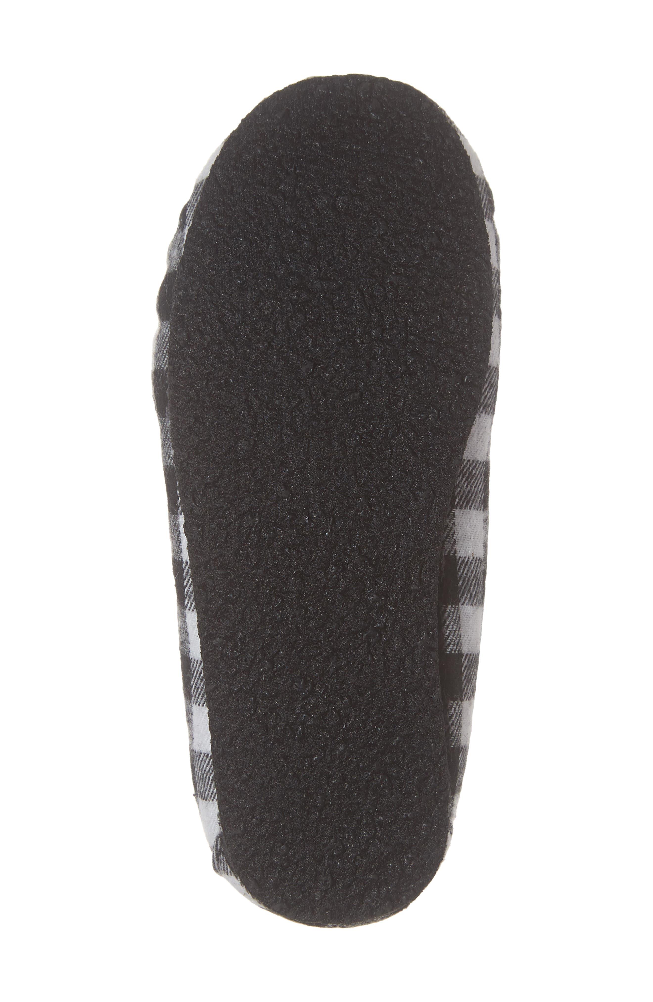 MINNETONKA, 'Cassie' Slipper, Alternate thumbnail 6, color, BLACK PLAID
