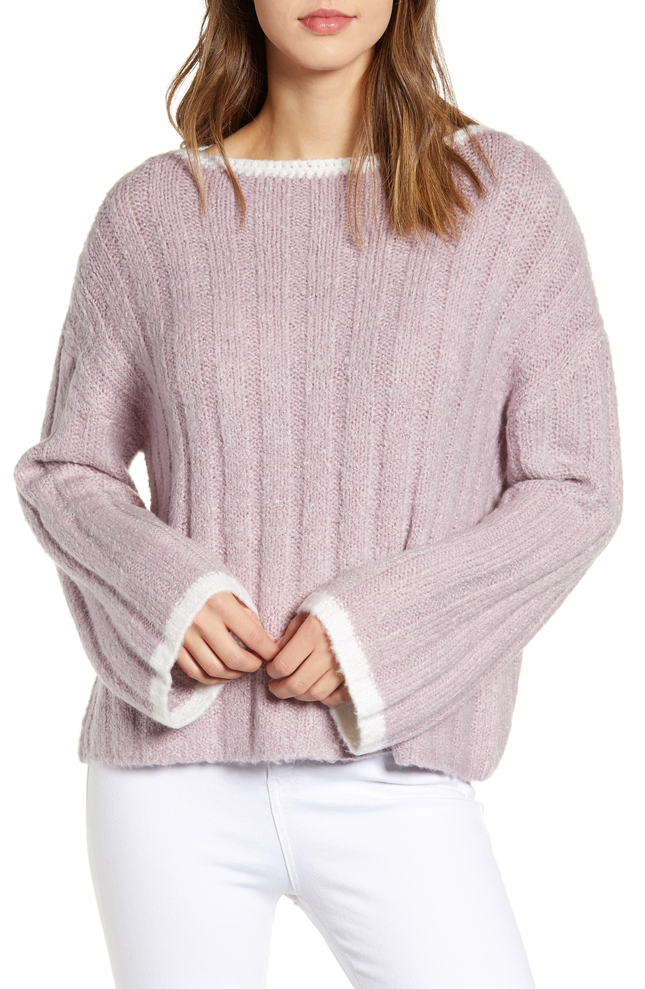 J.O.A., Oversize Sweater, Main thumbnail 1, color, LAVENDER