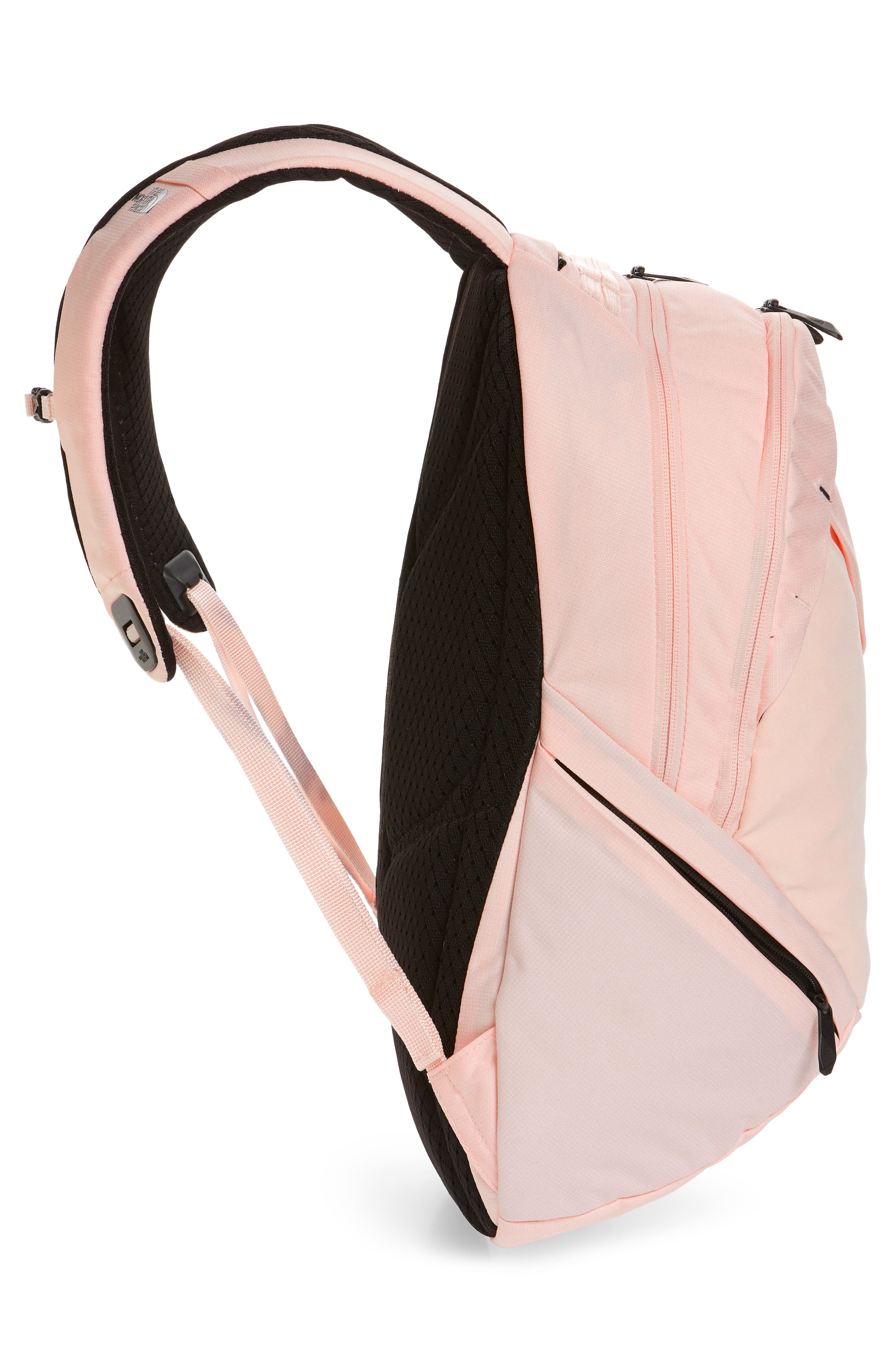 THE NORTH FACE, 'Isabella' Backpack, Alternate thumbnail 6, color, PINK LIGHT HEATHER/ TNF BLACK