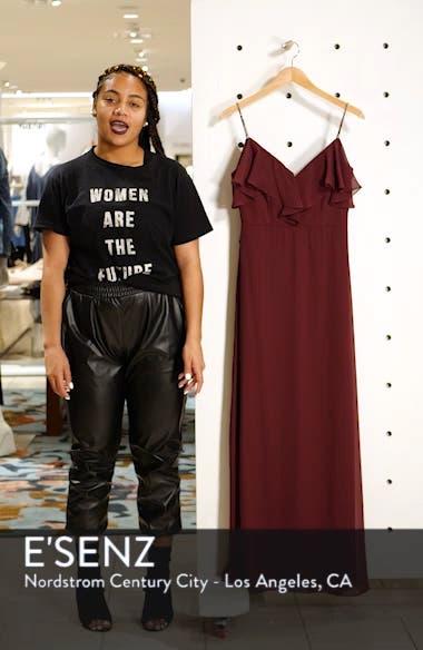 Jeweled Strap Ruffle Neck Chiffon Gown, sales video thumbnail