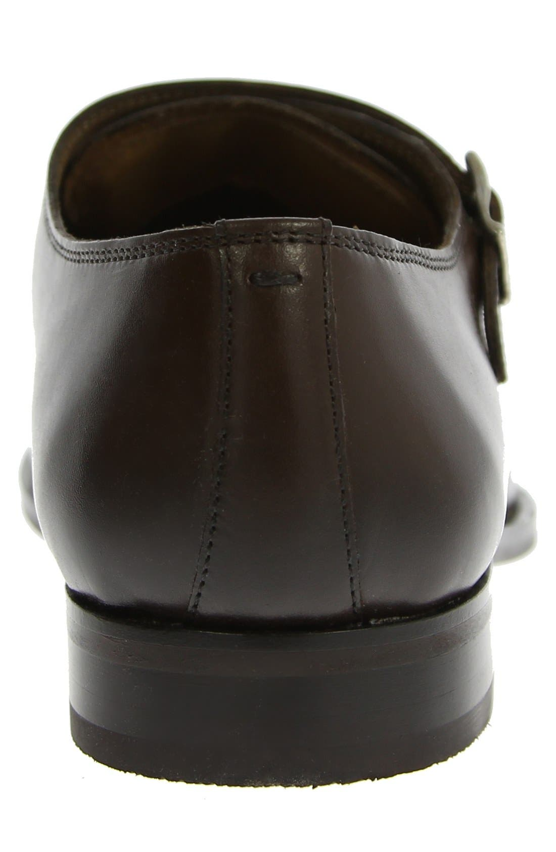 FLORSHEIM, 'Sabato' Double Monk Strap Shoe, Alternate thumbnail 6, color, BROWN