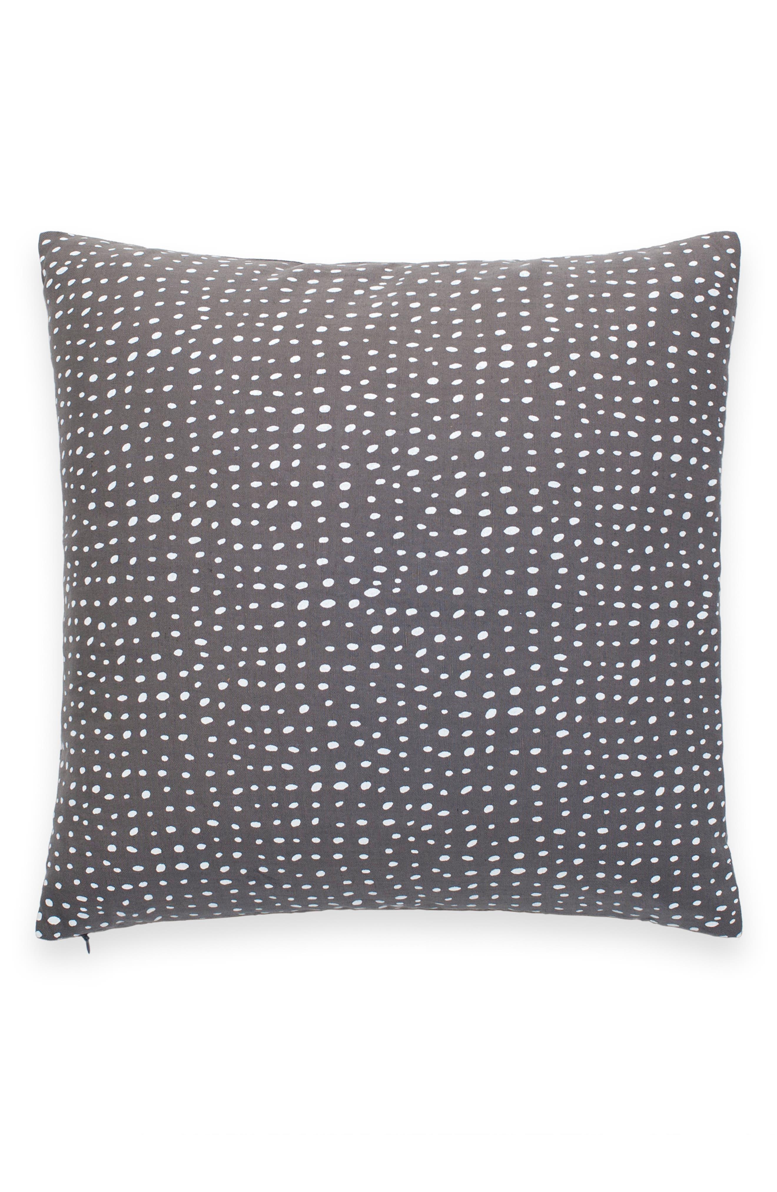 KATE SPADE NEW YORK, dot spot accent pillow, Main thumbnail 1, color, GREY